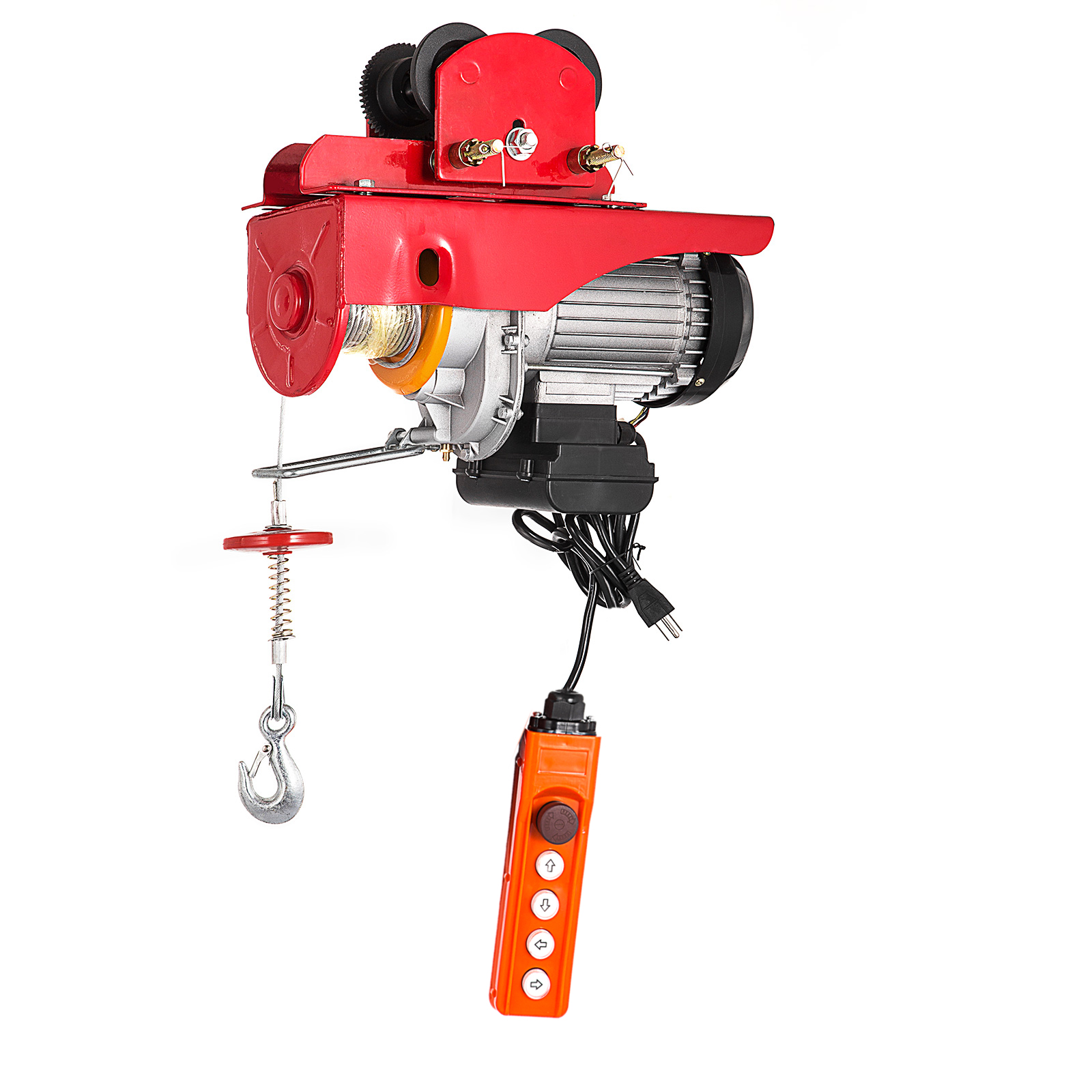 Electric Wire Rope Hoist W   Trolley 1100  2200lbs 40ft