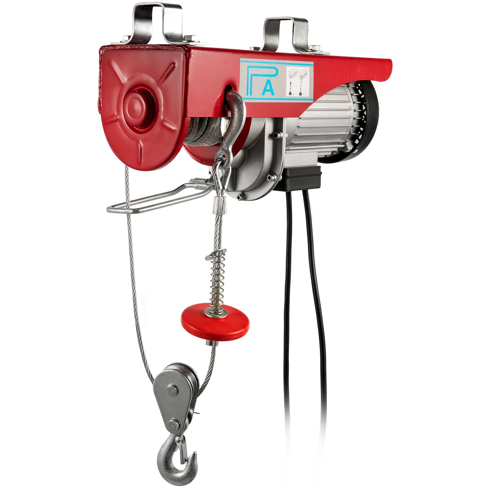 100kg-900kg-Electric-Hoist-Winch-Lifting-Engine-Crane-Cable-Lift-Hook-Garage miniature 82