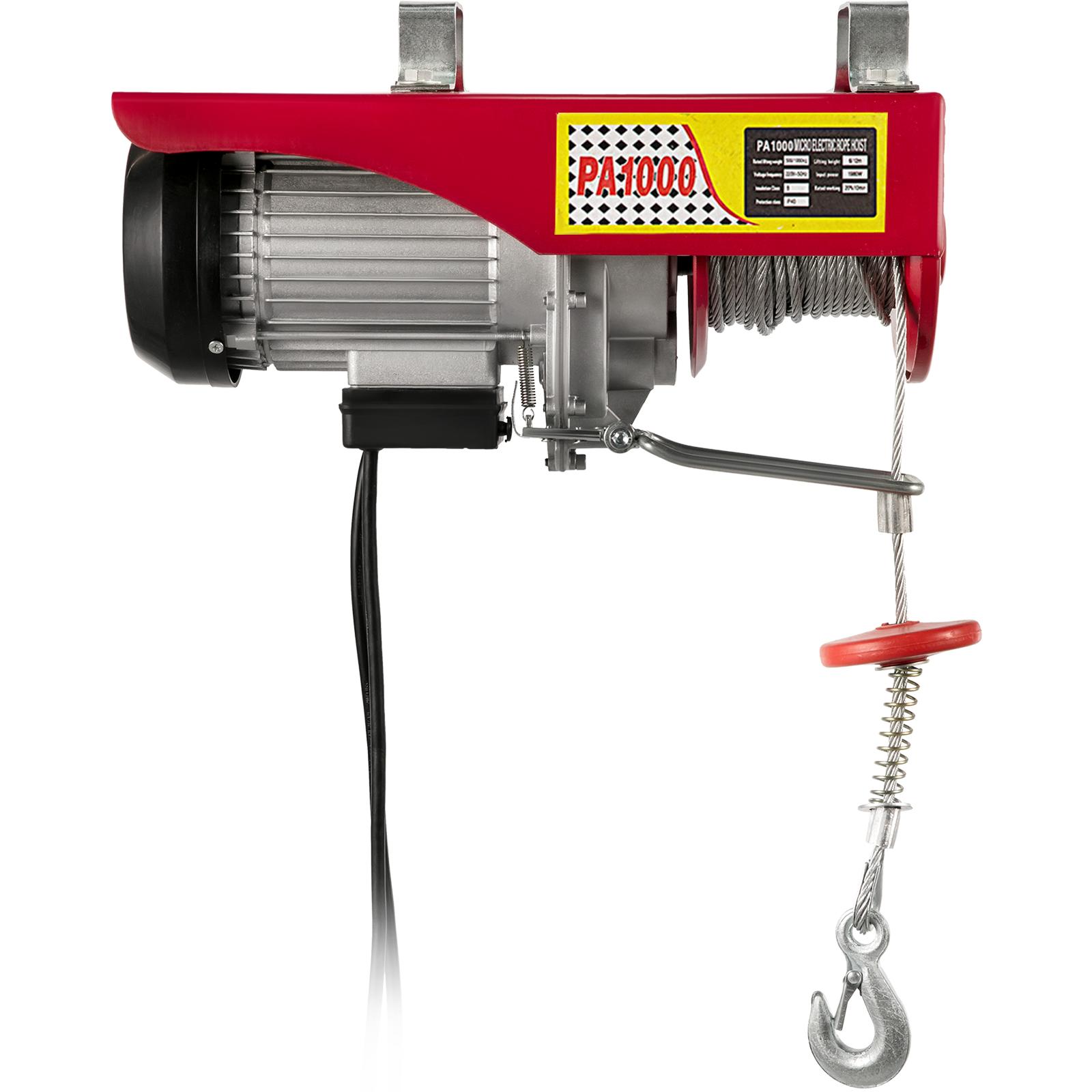 100kg-900kg-Electric-Hoist-Winch-Lifting-Engine-Crane-Cable-Lift-Hook-Garage miniature 83