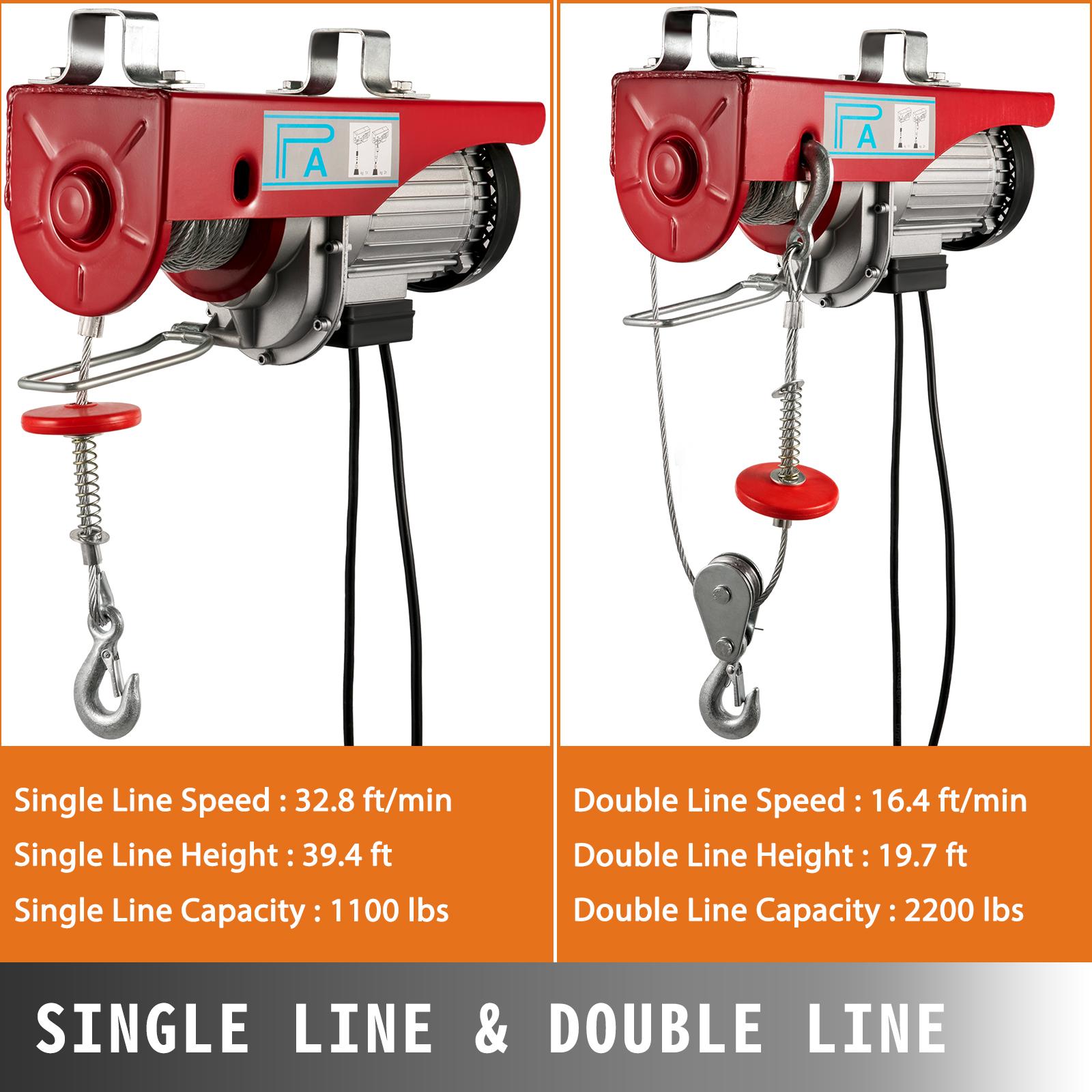 100kg-900kg-Electric-Hoist-Winch-Lifting-Engine-Crane-Cable-Lift-Hook-Garage miniature 74