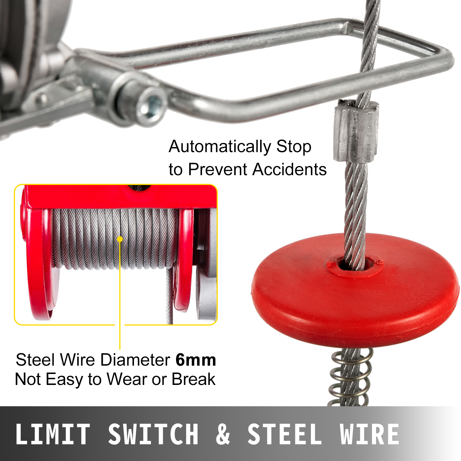 100kg-900kg-Electric-Hoist-Winch-Lifting-Engine-Crane-Cable-Lift-Hook-Garage miniature 77