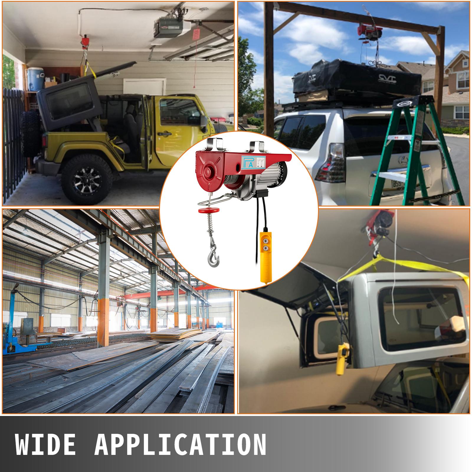 100kg-900kg-Electric-Hoist-Winch-Lifting-Engine-Crane-Cable-Lift-Hook-Garage miniature 79