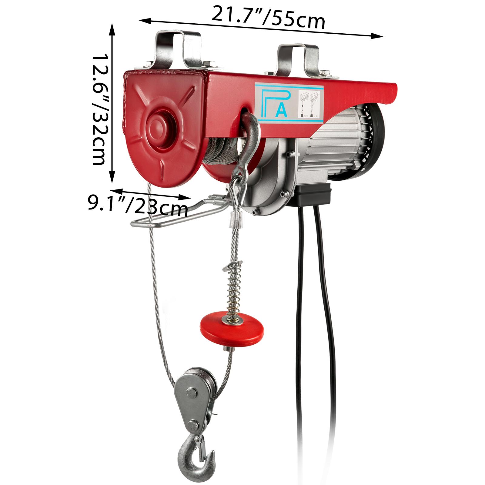100kg-900kg-Electric-Hoist-Winch-Lifting-Engine-Crane-Cable-Lift-Hook-Garage miniature 80