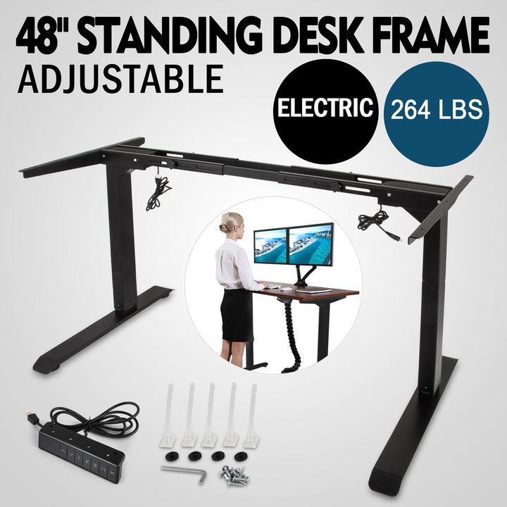 Electric-Sit-Stand-Standing-Desk-Frame-Dual-Motor-Stable-Heavy-Duty-Premium thumbnail 13