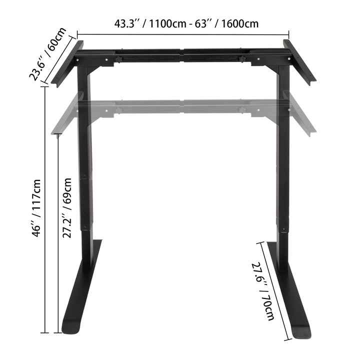 Electric-Sit-Stand-Standing-Desk-Frame-Dual-Motor-Stable-Heavy-Duty-Premium thumbnail 14