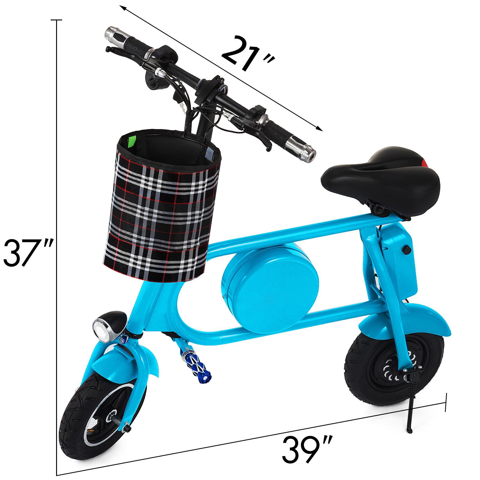 Folding-Electric-Bicycle-E-Bike-36v-battery-amp-400-Watt-Motor-Portable-eBike-FF thumbnail 14