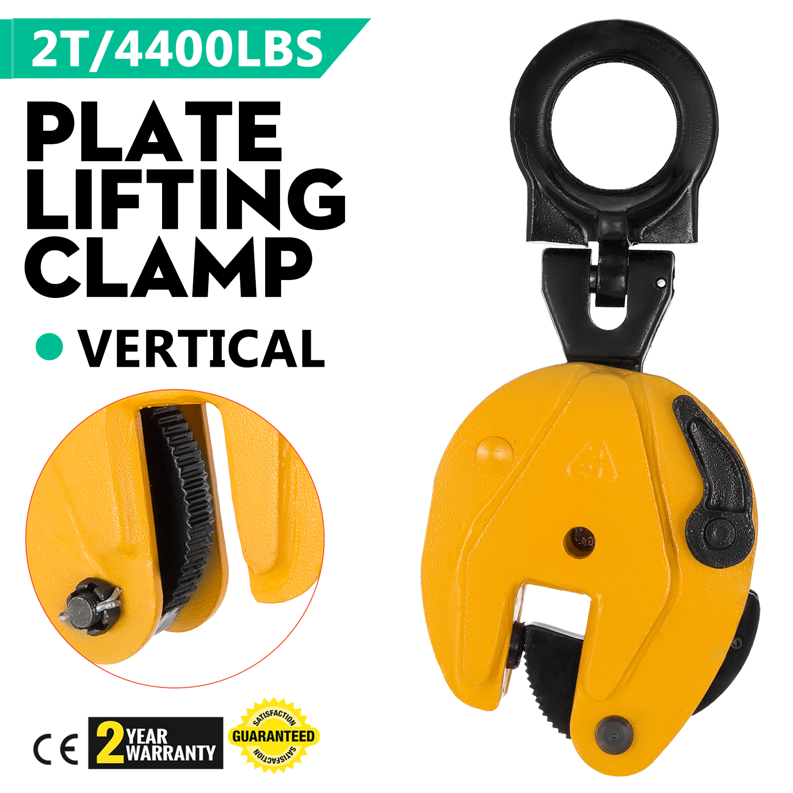 Alloy Steel Shackle,Load Capacity of 2T 4400 LBS