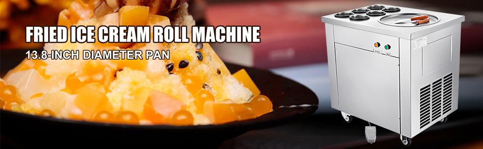 sunflowerany Household Mini Fried Yogurt Machine With 2 Fried Ice Shovel,Fried Ice Machine Tray,Sweet Spot Instant Ice Cream Maker Pan Easy To Clean