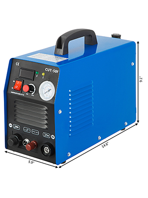 110V /& 230V Dual Voltage Digital 50A Inverter Non-Touch Pilot Arc Plasma Cutter