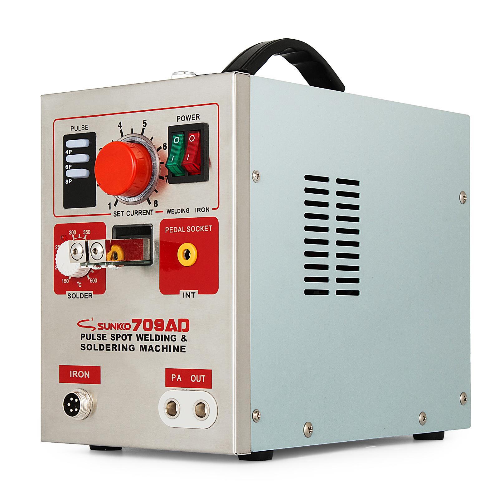 110V//220V 3 in 1 2.2kw Pulse Spot Welder Battery Welding Soldering Machine 709AD