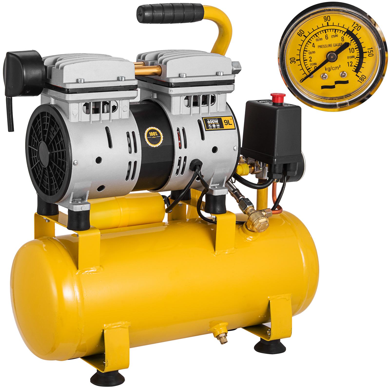 Druckluft Gerät Lufterzeuger 1,5 PS 10 bar 12 L 1100 W Kompressor ölfrei