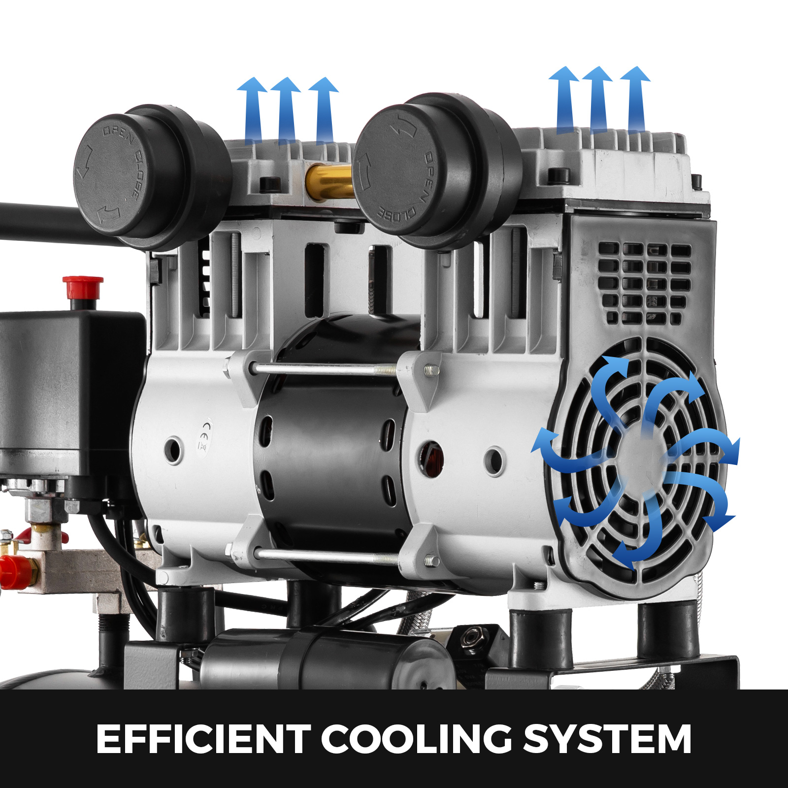 Vevor Flüster Kompressor Luftkompressor Silent 30L Airbrush 69dB 980W