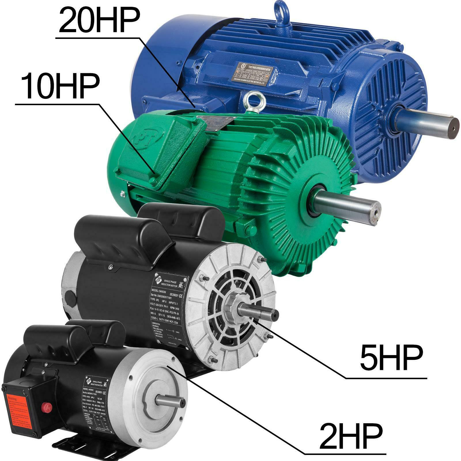 Electric Motor 3//4 HP 1 Phase 1800 RPM 5//8 inch shaft 60 Hz Keyed shaft TEFC