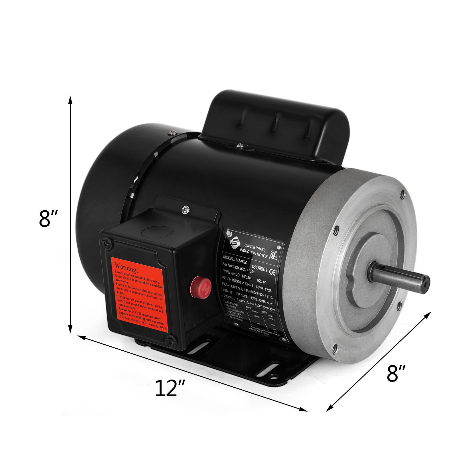 3//4 HP Universal Motor Electric Motor 56C Frame 1725 RPM Single Phase 60 HZ