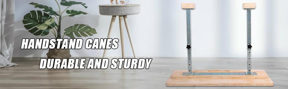 Fixed Handstand Canes Yoga Headstand Bench MDF Feet Up Rectangular Hand Blocks