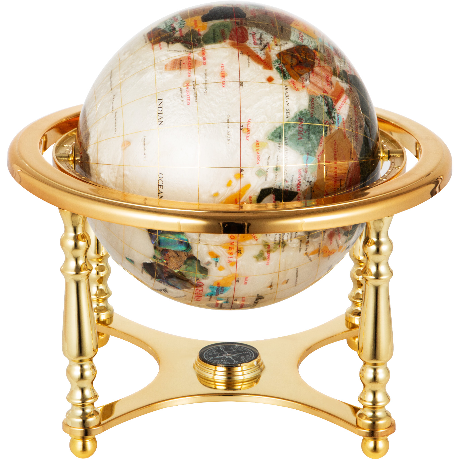 thumbnail 107 - VEVOR 36/21/14 World Globe with Stand Compass Vintage Pearl +Map