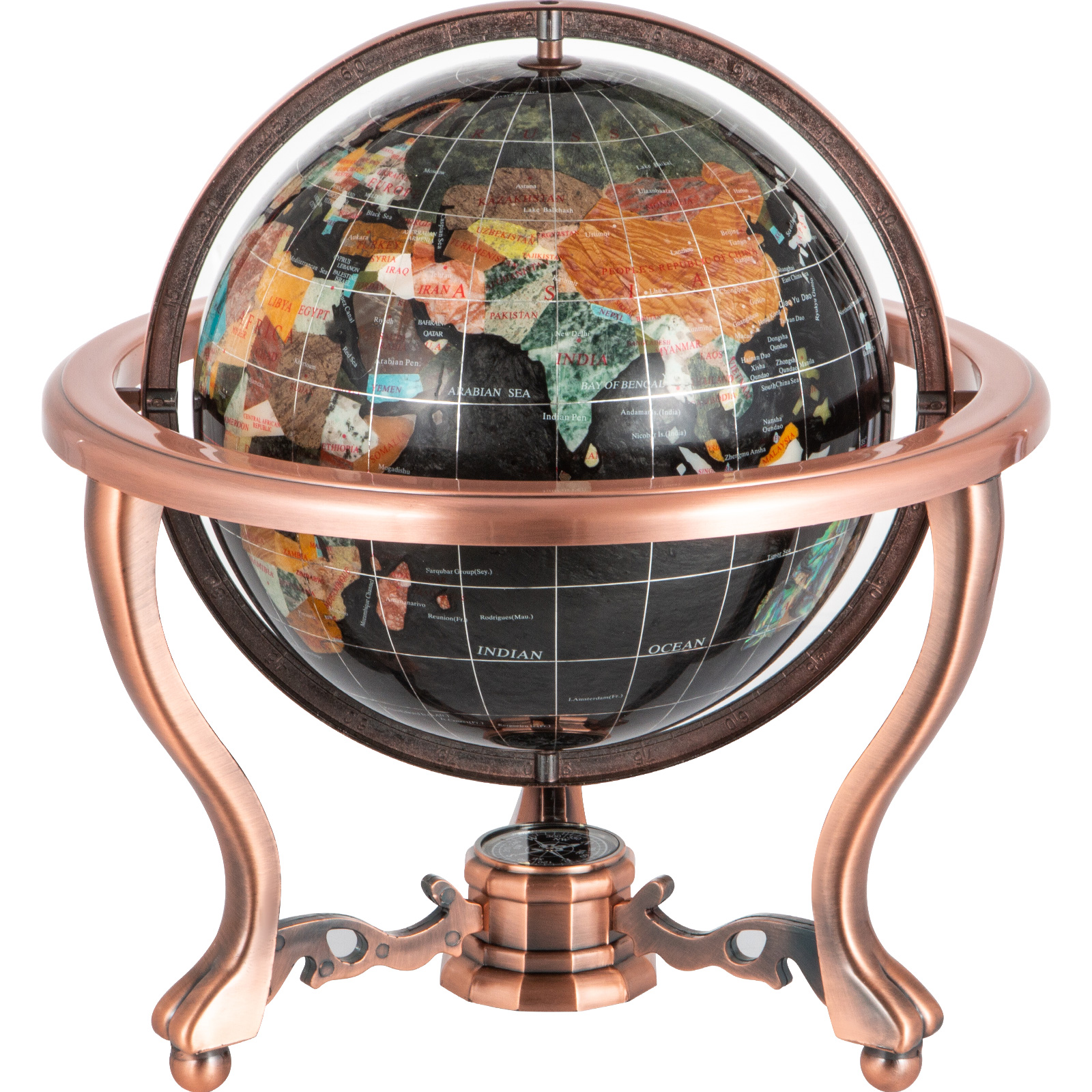 thumbnail 94 - VEVOR 36/21/14 World Globe with Stand Compass Vintage Pearl +Map