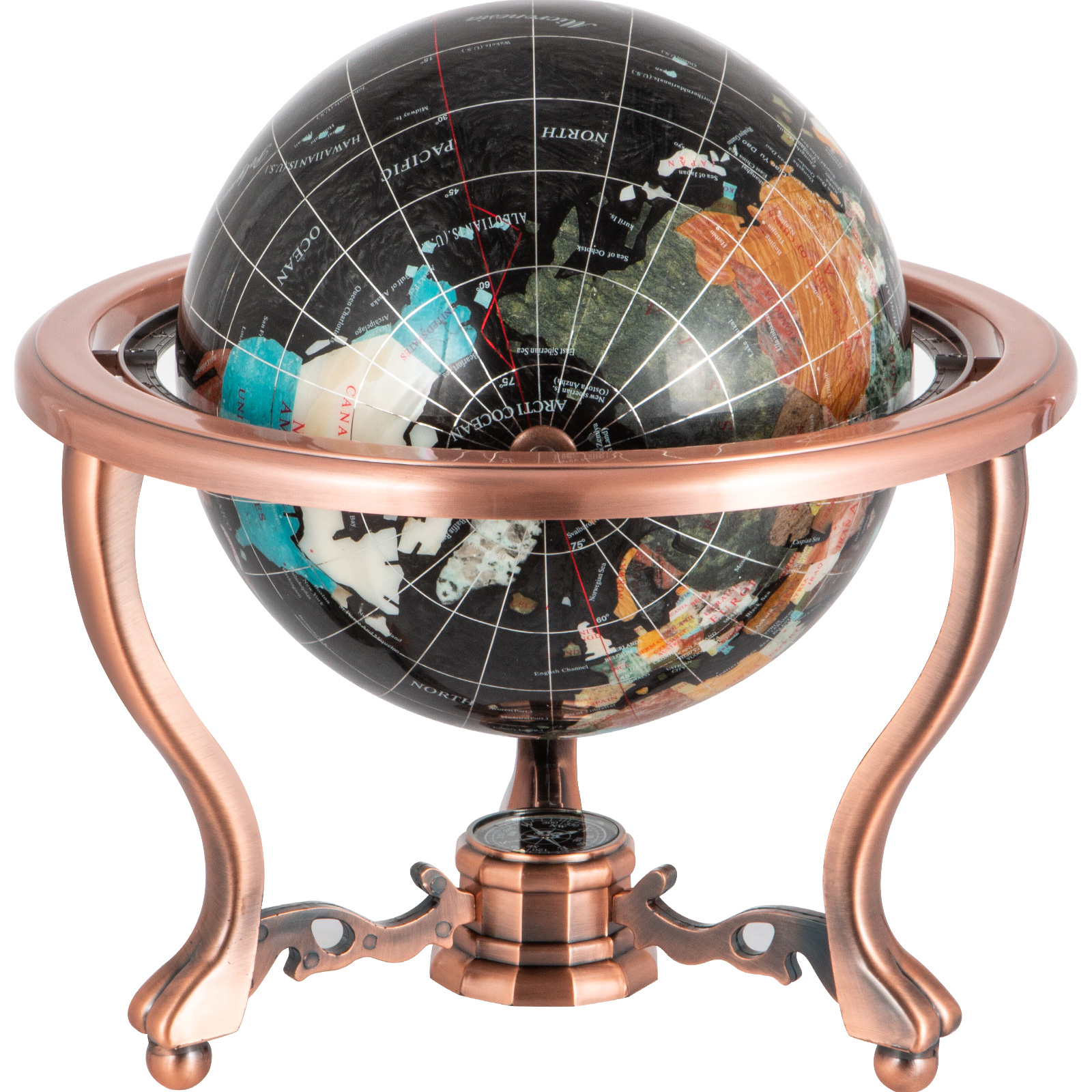 thumbnail 95 - VEVOR 36/21/14 World Globe with Stand Compass Vintage Pearl +Map