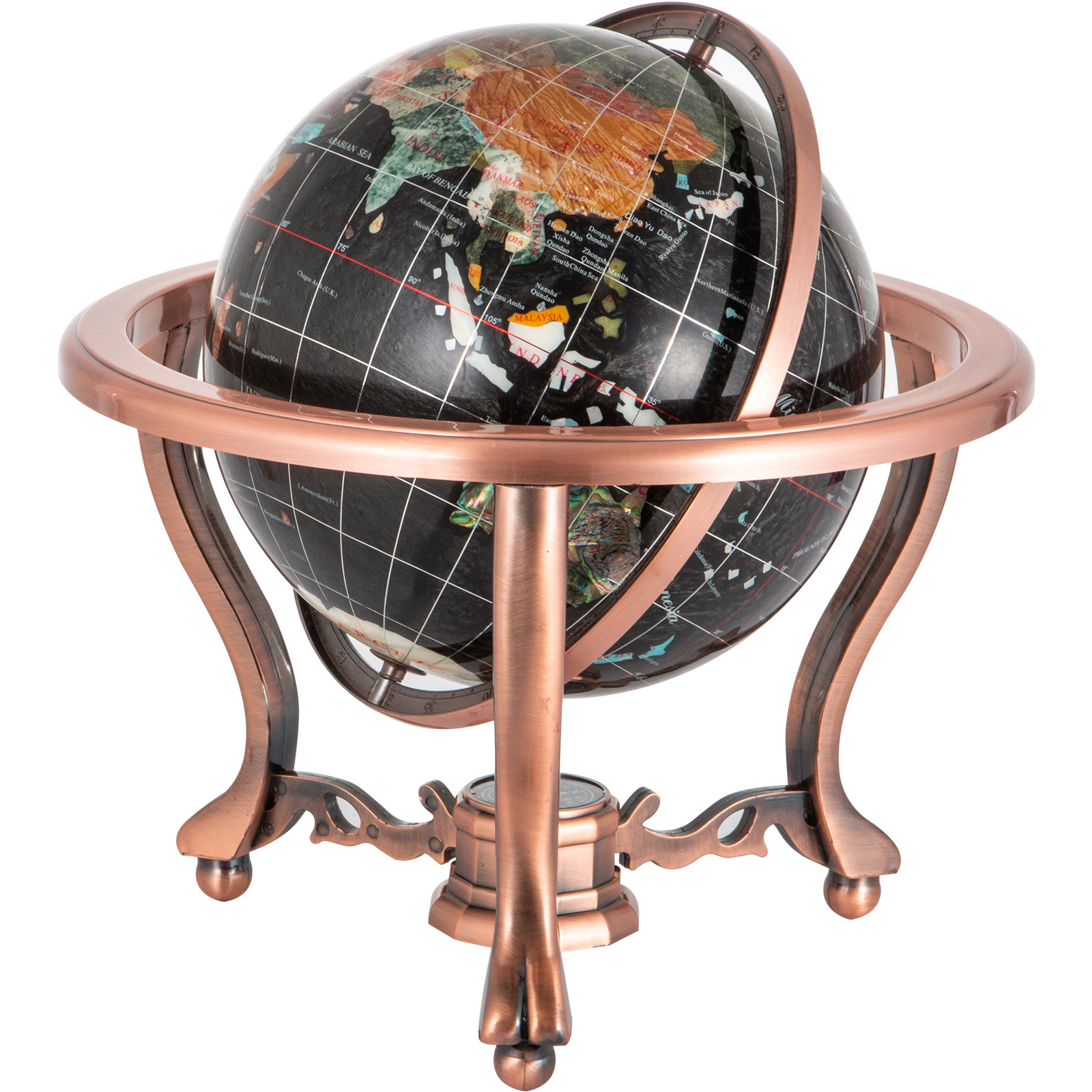 thumbnail 96 - VEVOR 36/21/14 World Globe with Stand Compass Vintage Pearl +Map