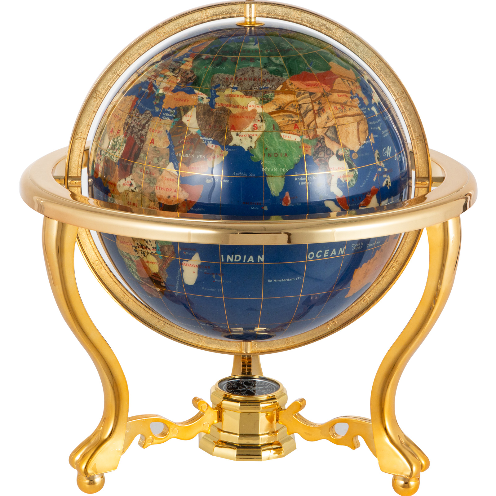 thumbnail 82 - VEVOR 36/21/14 World Globe with Stand Compass Vintage Pearl +Map