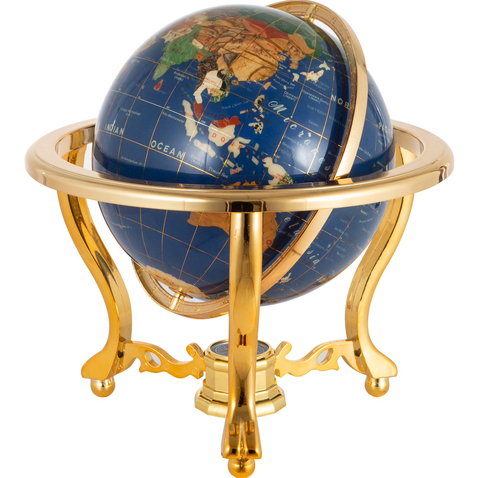 thumbnail 84 - VEVOR 36/21/14 World Globe with Stand Compass Vintage Pearl +Map