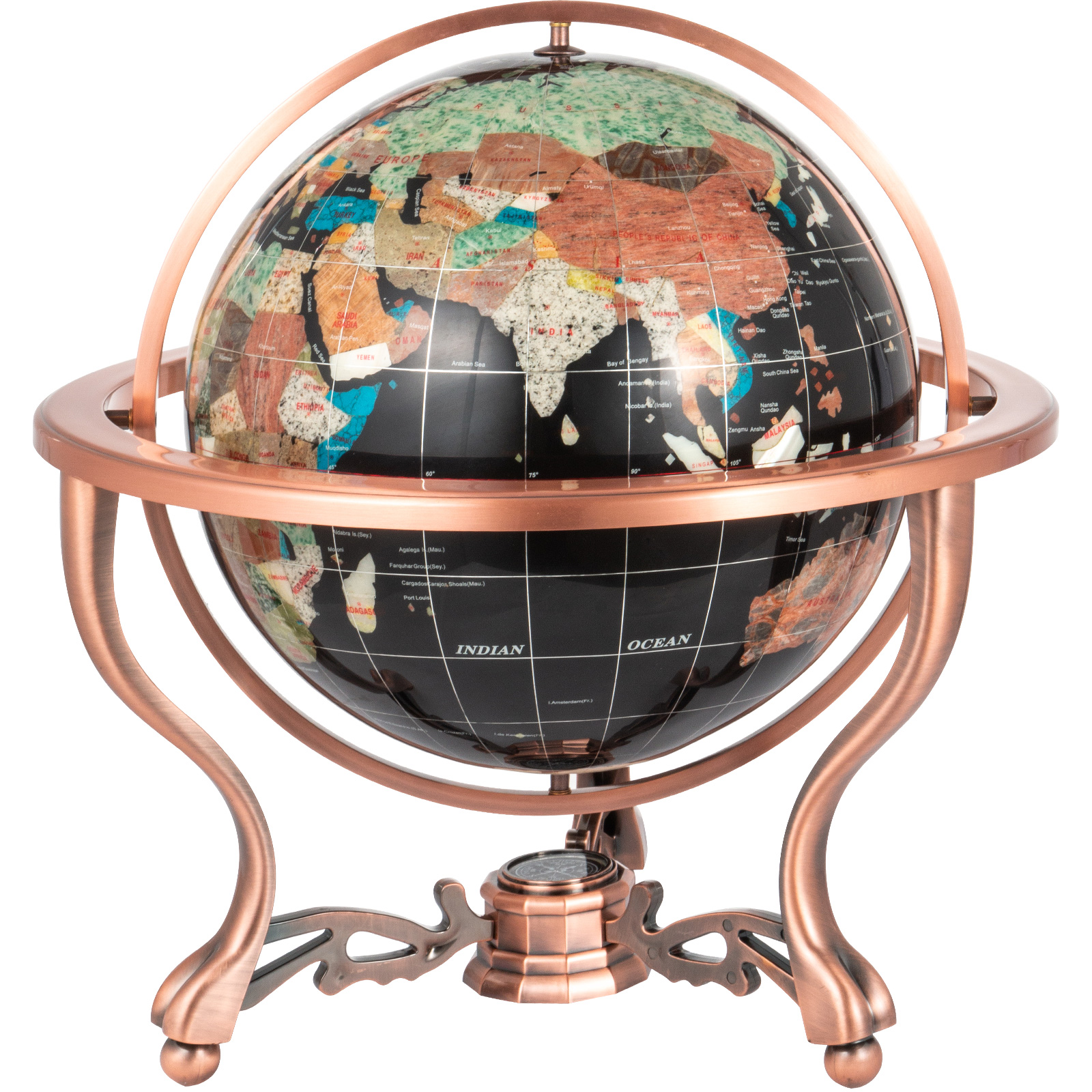 thumbnail 70 - VEVOR 36/21/14 World Globe with Stand Compass Vintage Pearl +Map