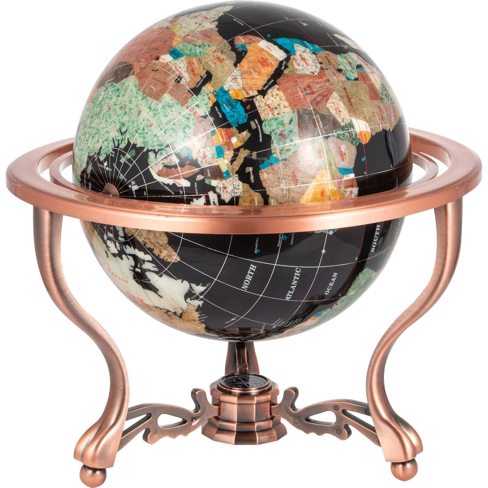 thumbnail 71 - VEVOR 36/21/14 World Globe with Stand Compass Vintage Pearl +Map