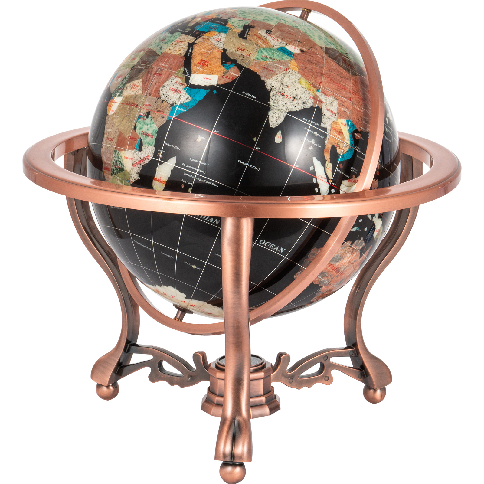 thumbnail 72 - VEVOR 36/21/14 World Globe with Stand Compass Vintage Pearl +Map