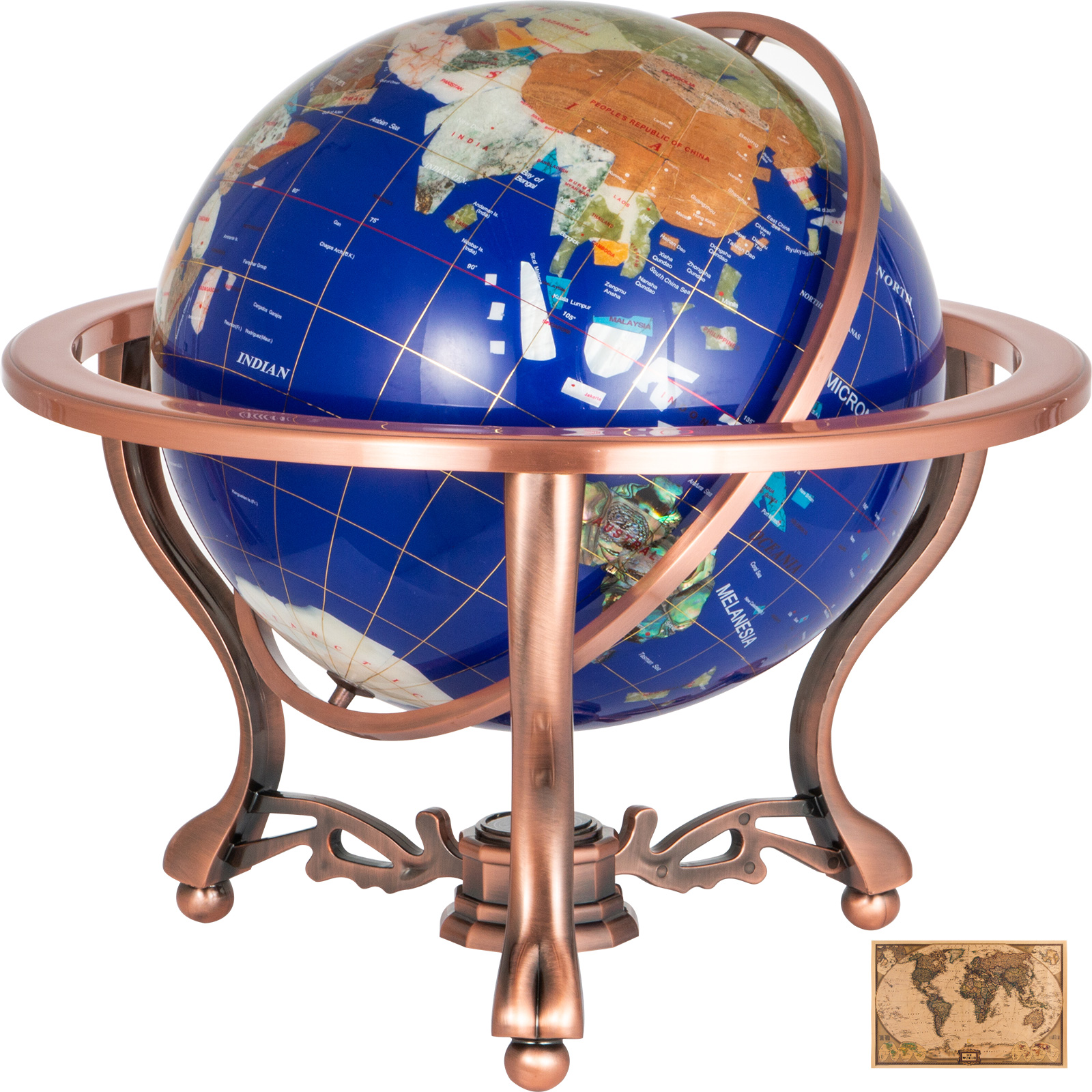 thumbnail 37 - VEVOR 36/21/14 World Globe with Stand Compass Vintage Pearl +Map