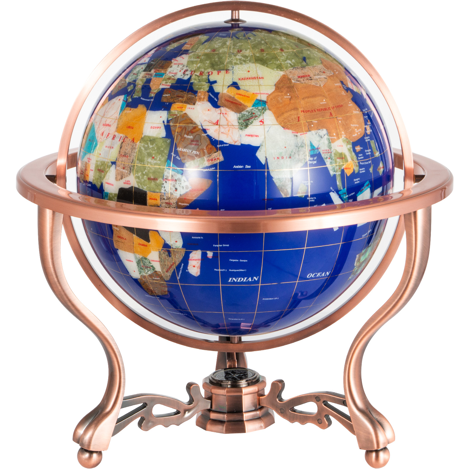 thumbnail 46 - VEVOR 36/21/14 World Globe with Stand Compass Vintage Pearl +Map