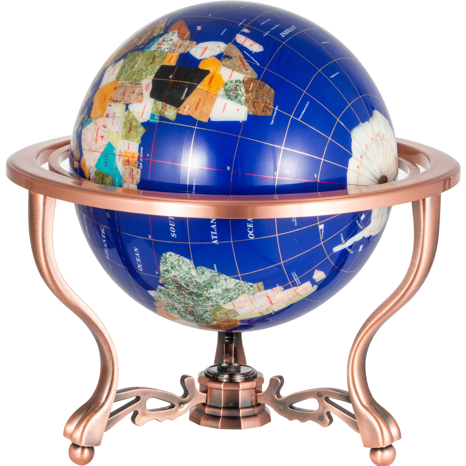 thumbnail 47 - VEVOR 36/21/14 World Globe with Stand Compass Vintage Pearl +Map
