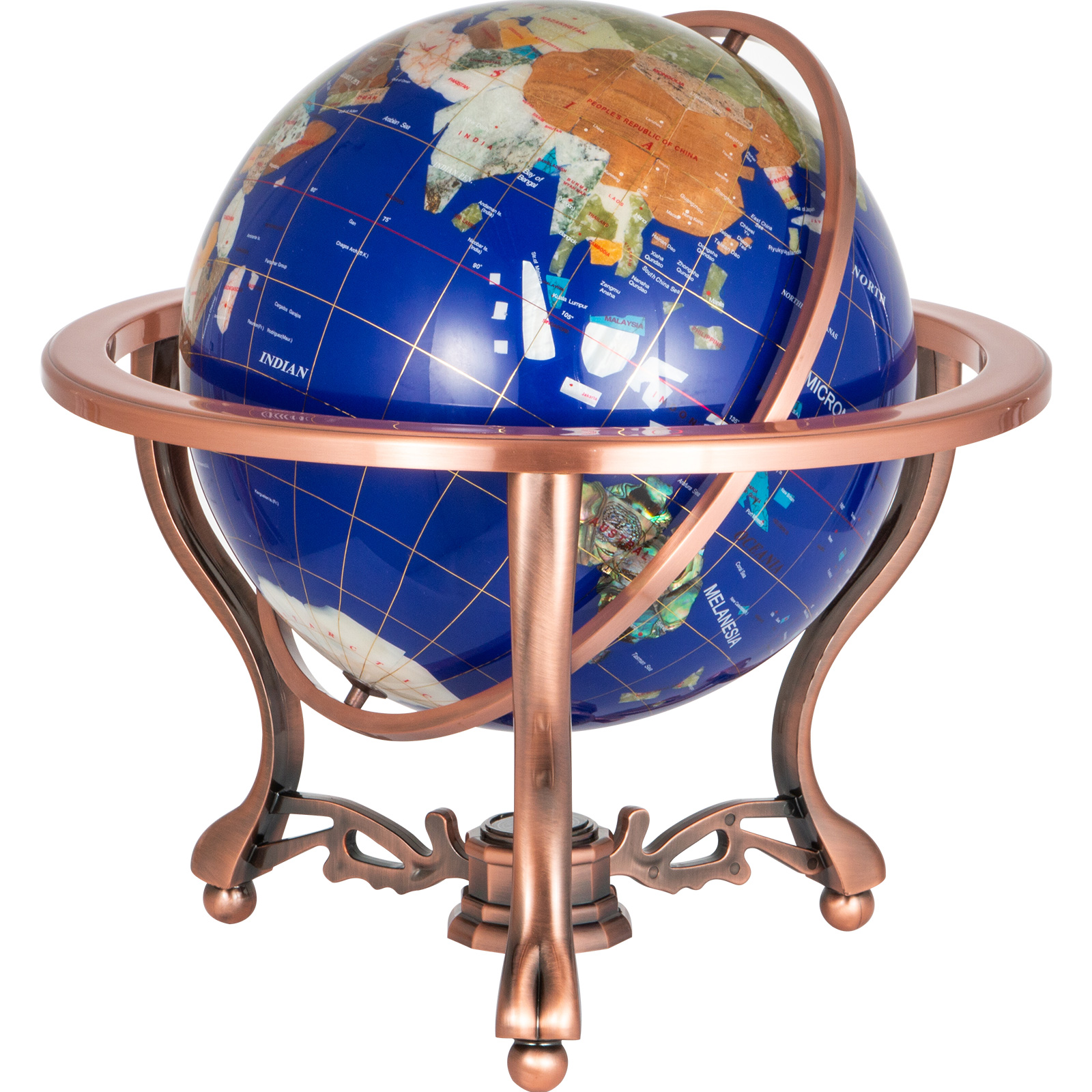 thumbnail 48 - VEVOR 36/21/14 World Globe with Stand Compass Vintage Pearl +Map