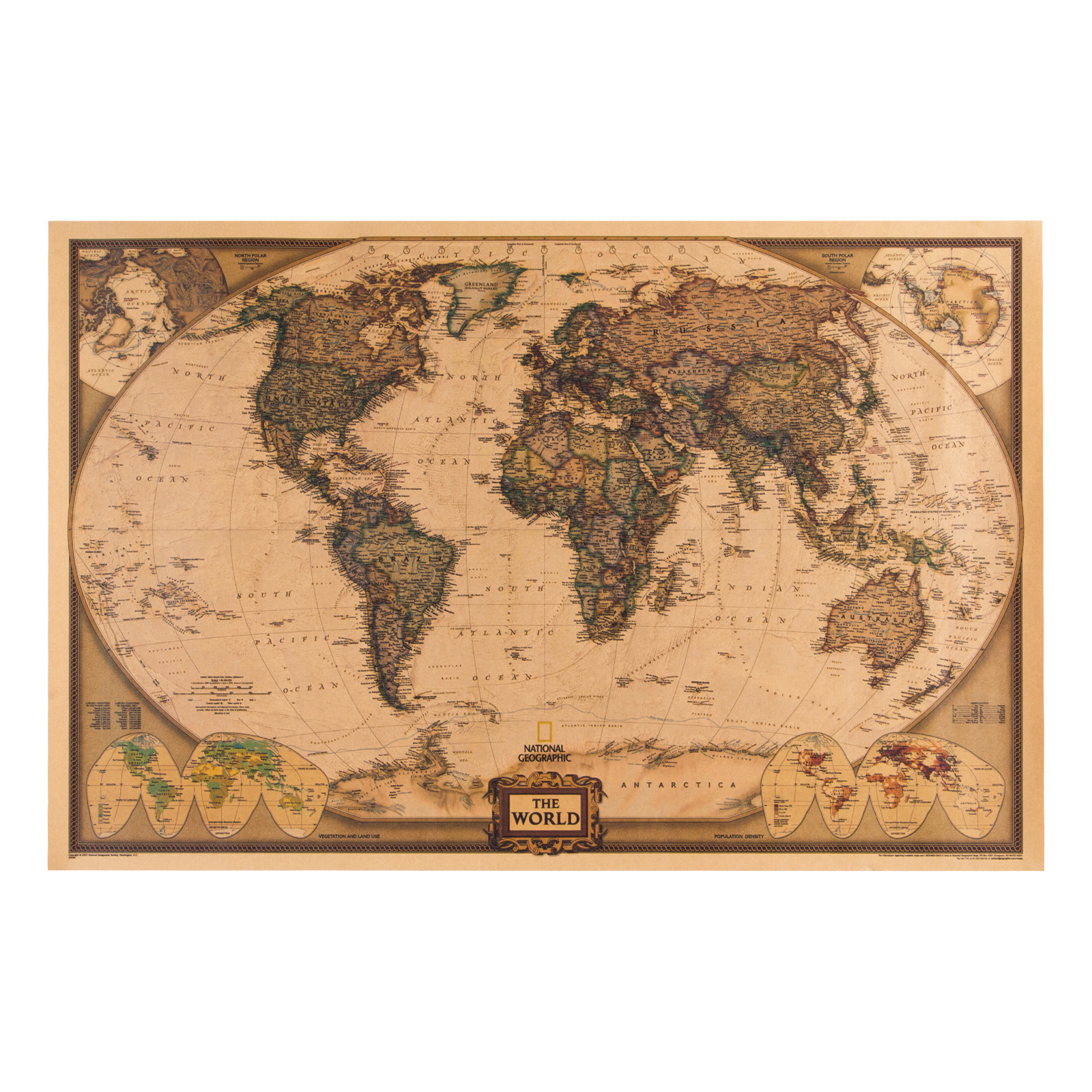 thumbnail 45 - VEVOR 36/21/14 World Globe with Stand Compass Vintage Pearl +Map