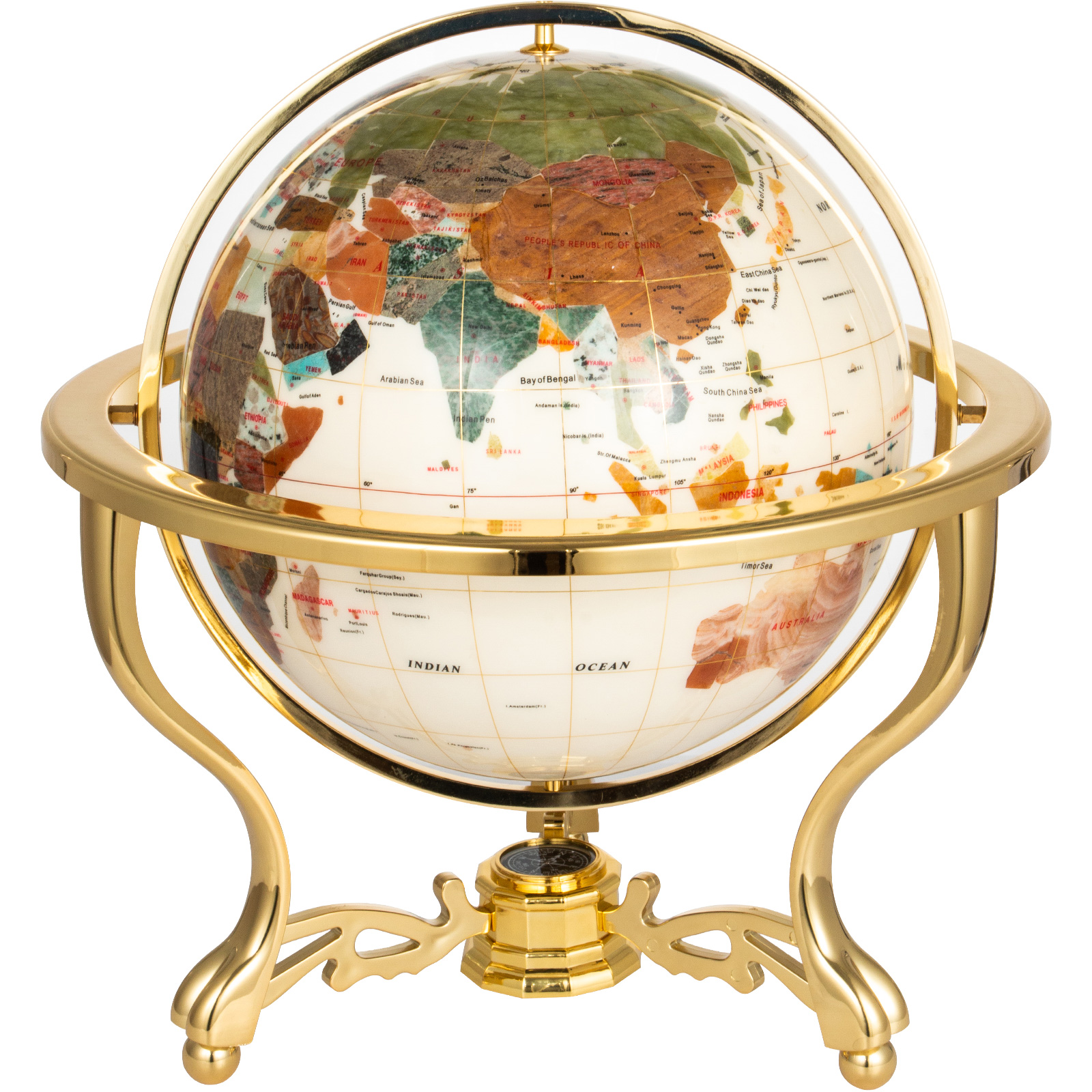 thumbnail 58 - VEVOR 36/21/14 World Globe with Stand Compass Vintage Pearl +Map