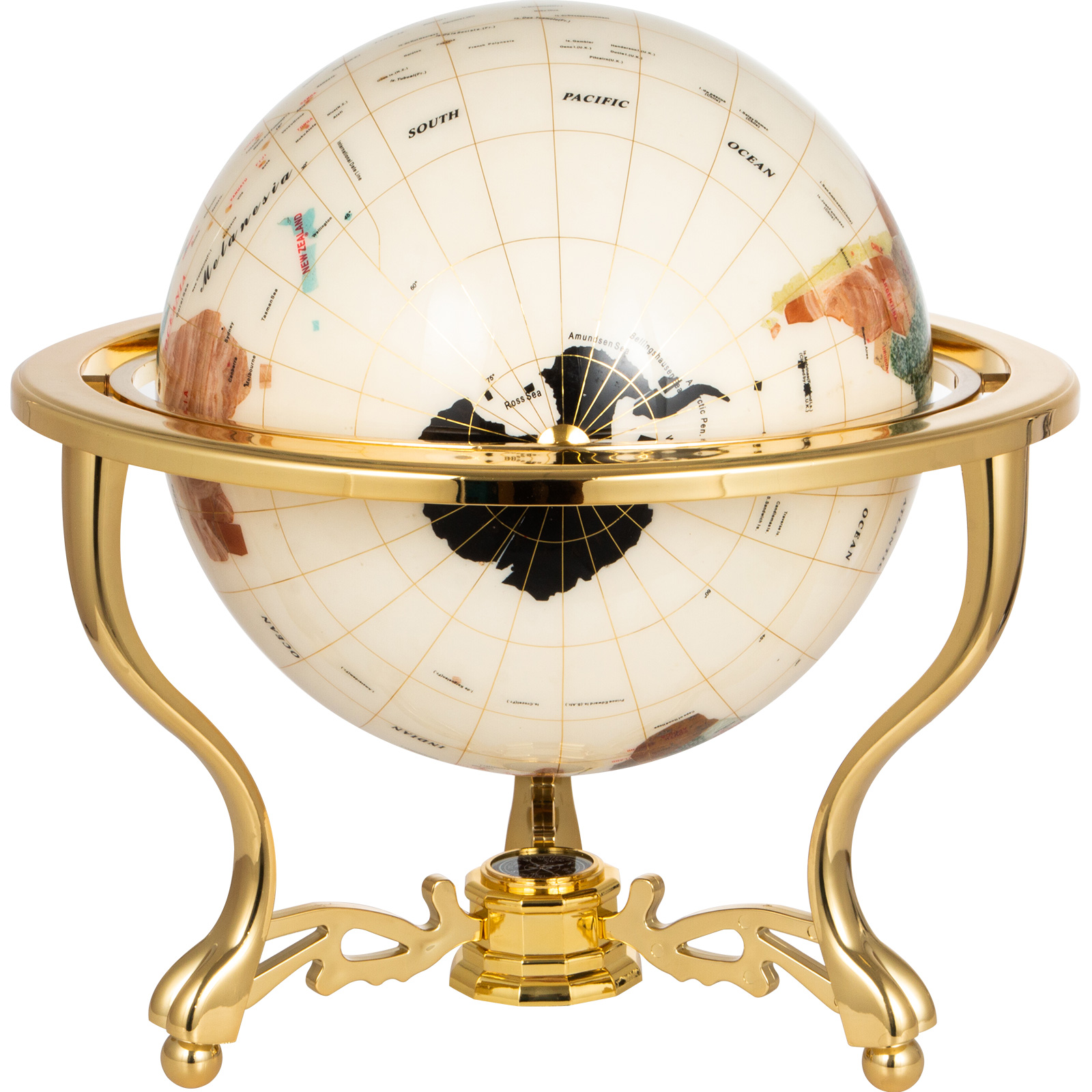 thumbnail 59 - VEVOR 36/21/14 World Globe with Stand Compass Vintage Pearl +Map