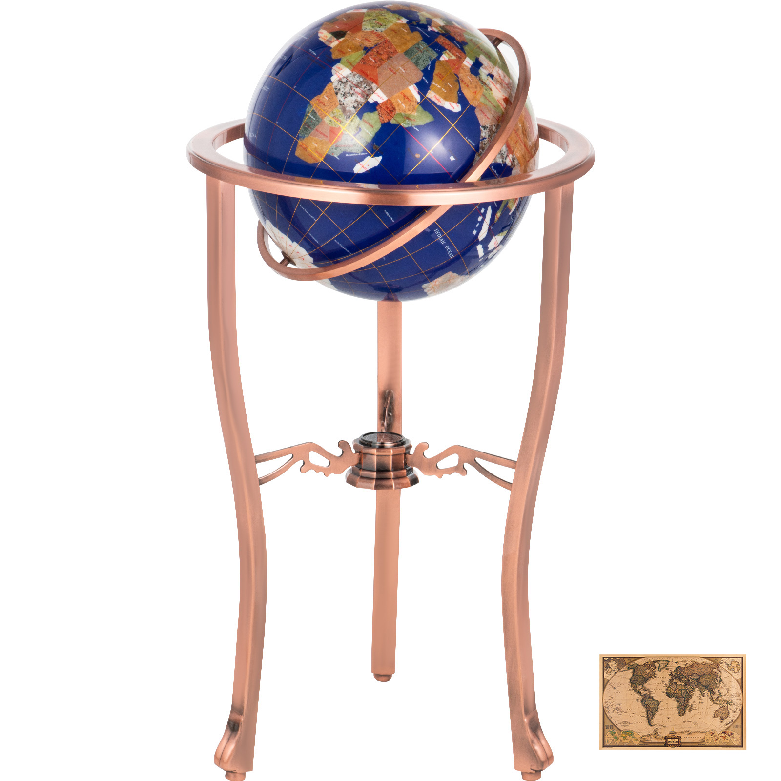 thumbnail 13 - VEVOR 36/21/14 World Globe with Stand Compass Vintage Pearl +Map