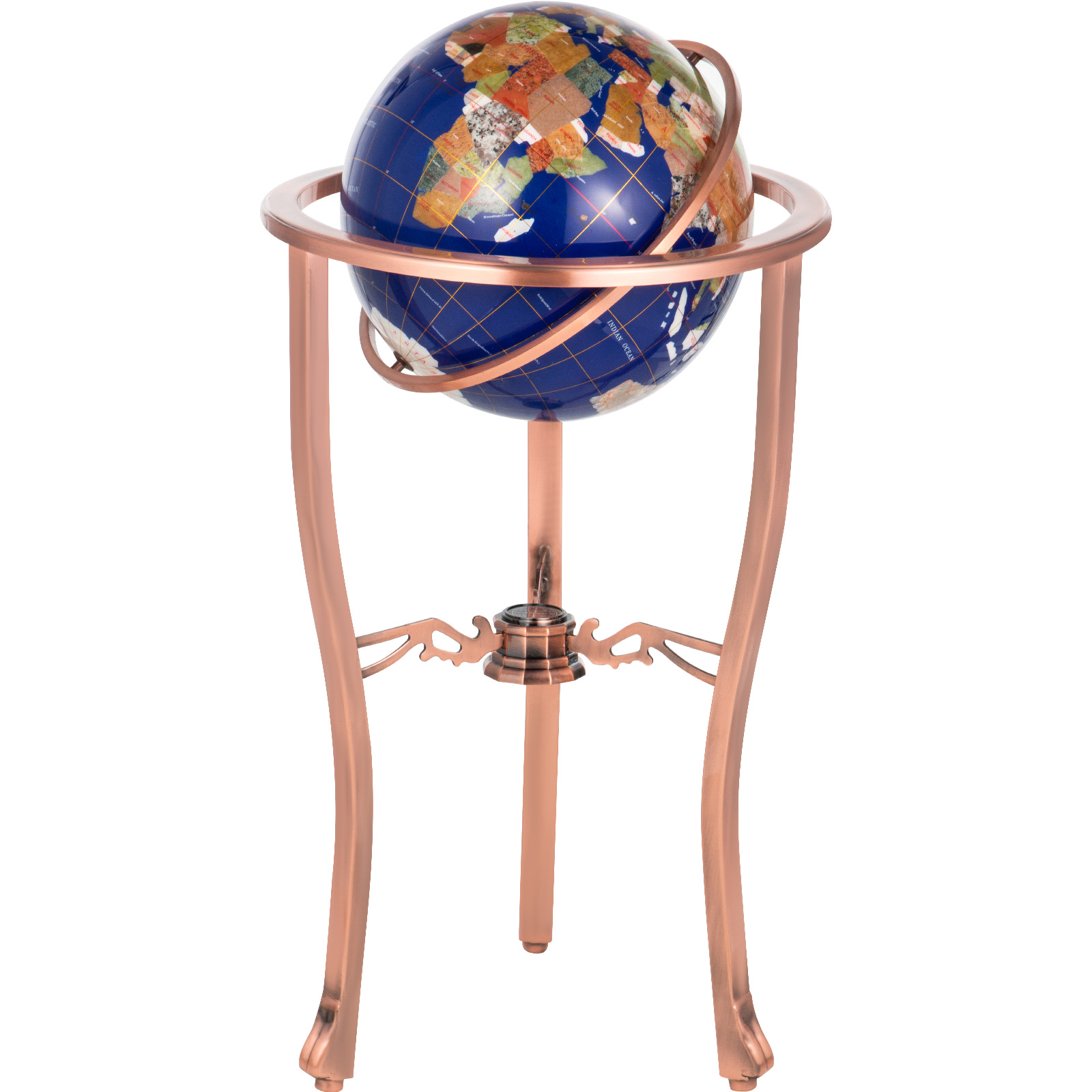 thumbnail 22 - VEVOR 36/21/14 World Globe with Stand Compass Vintage Pearl +Map