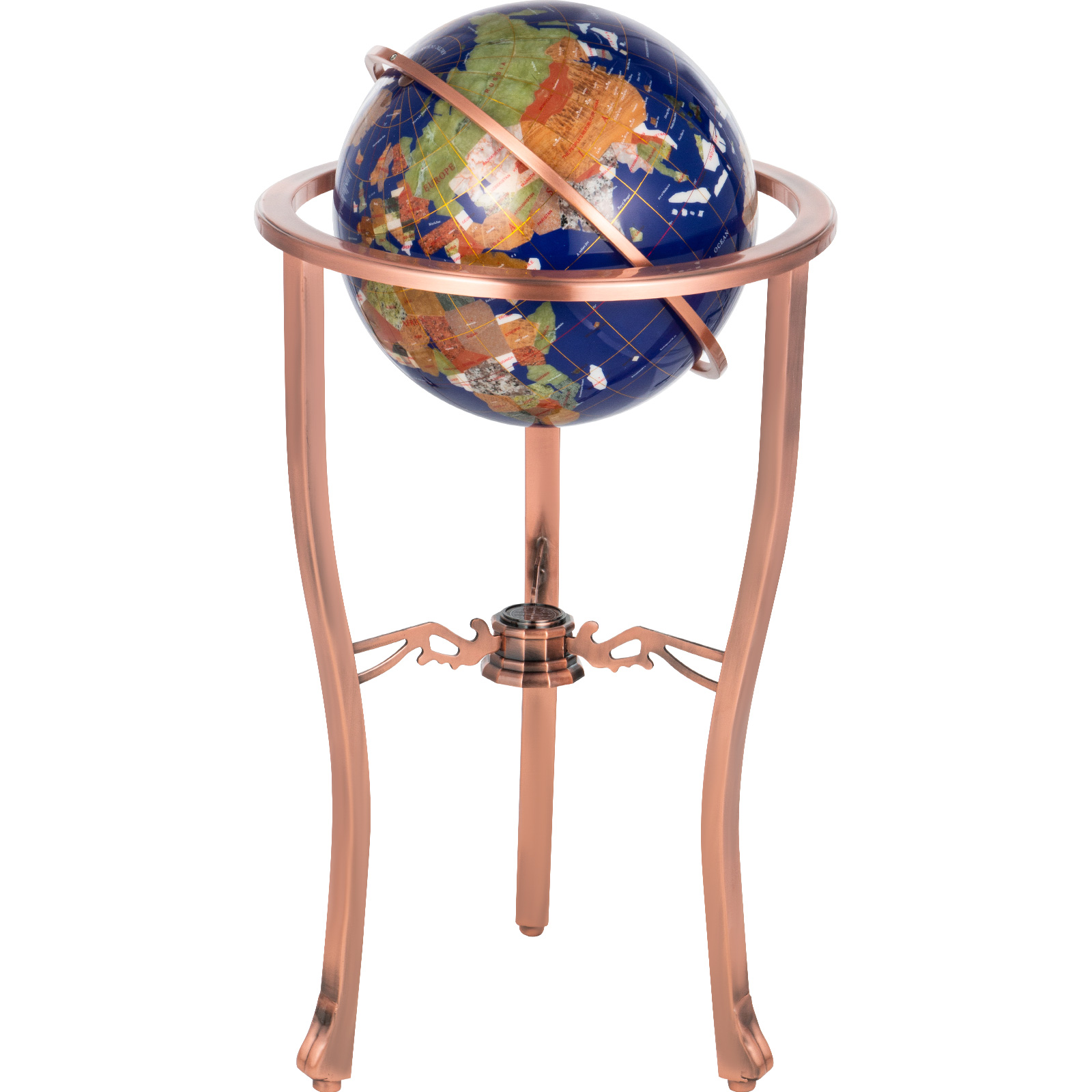 thumbnail 23 - VEVOR 36/21/14 World Globe with Stand Compass Vintage Pearl +Map