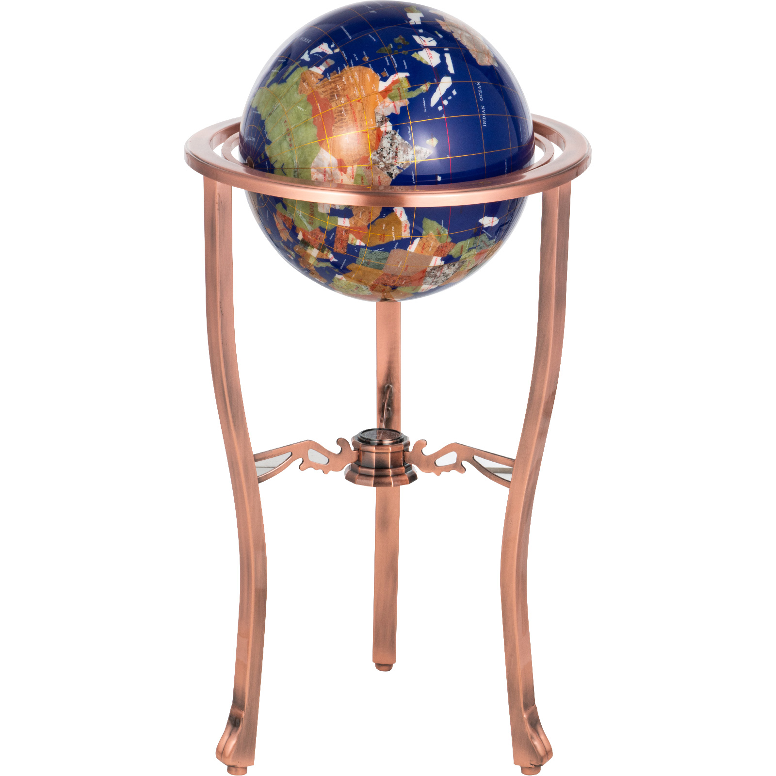 thumbnail 24 - VEVOR 36/21/14 World Globe with Stand Compass Vintage Pearl +Map