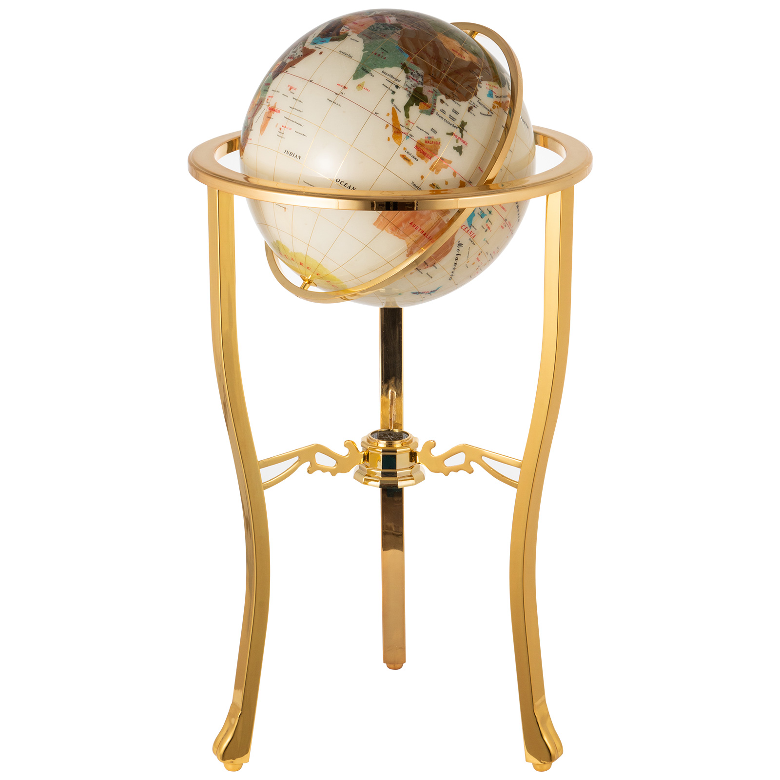 thumbnail 34 - VEVOR 36/21/14 World Globe with Stand Compass Vintage Pearl +Map