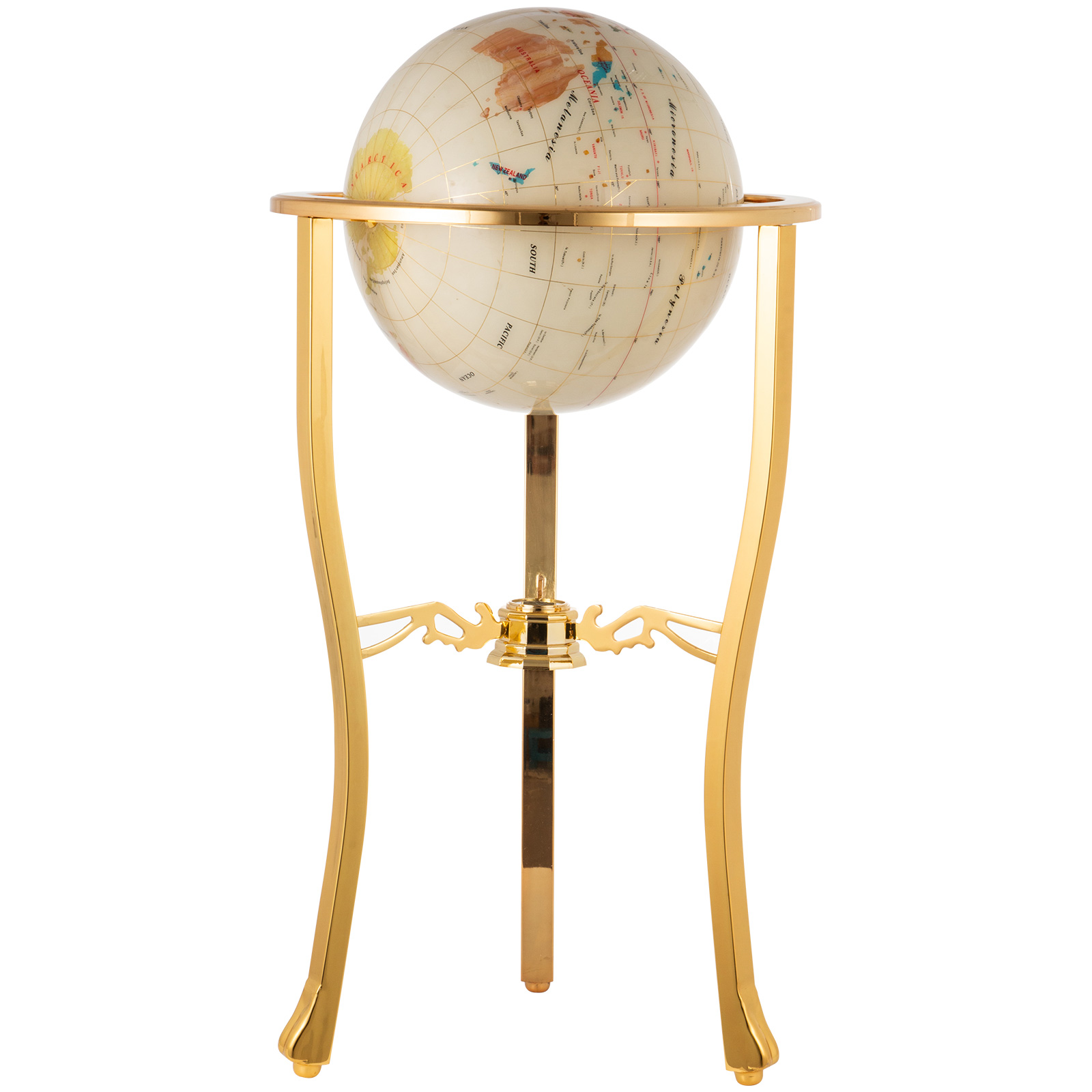 thumbnail 36 - VEVOR 36/21/14 World Globe with Stand Compass Vintage Pearl +Map