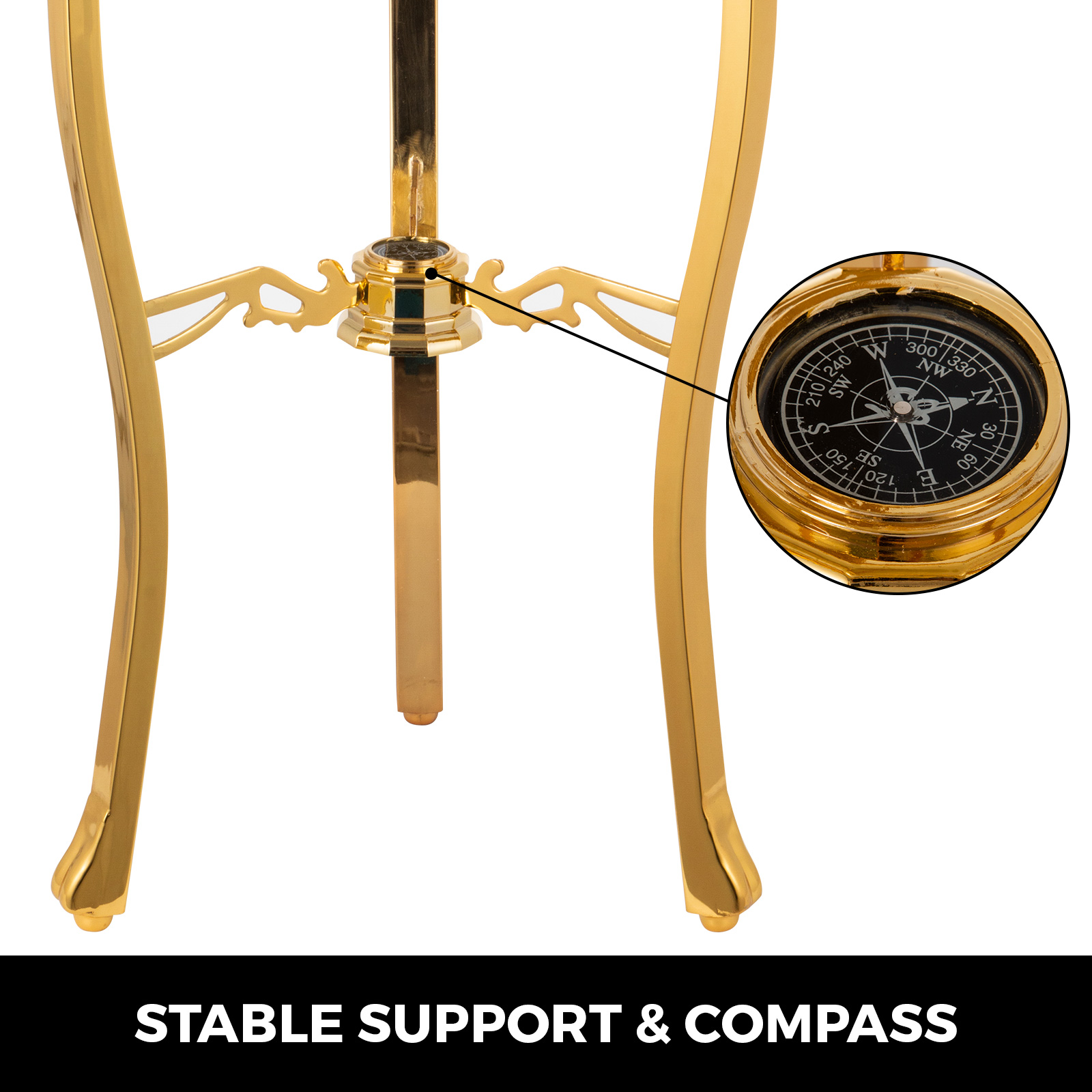 thumbnail 28 - VEVOR 36/21/14 World Globe with Stand Compass Vintage Pearl +Map