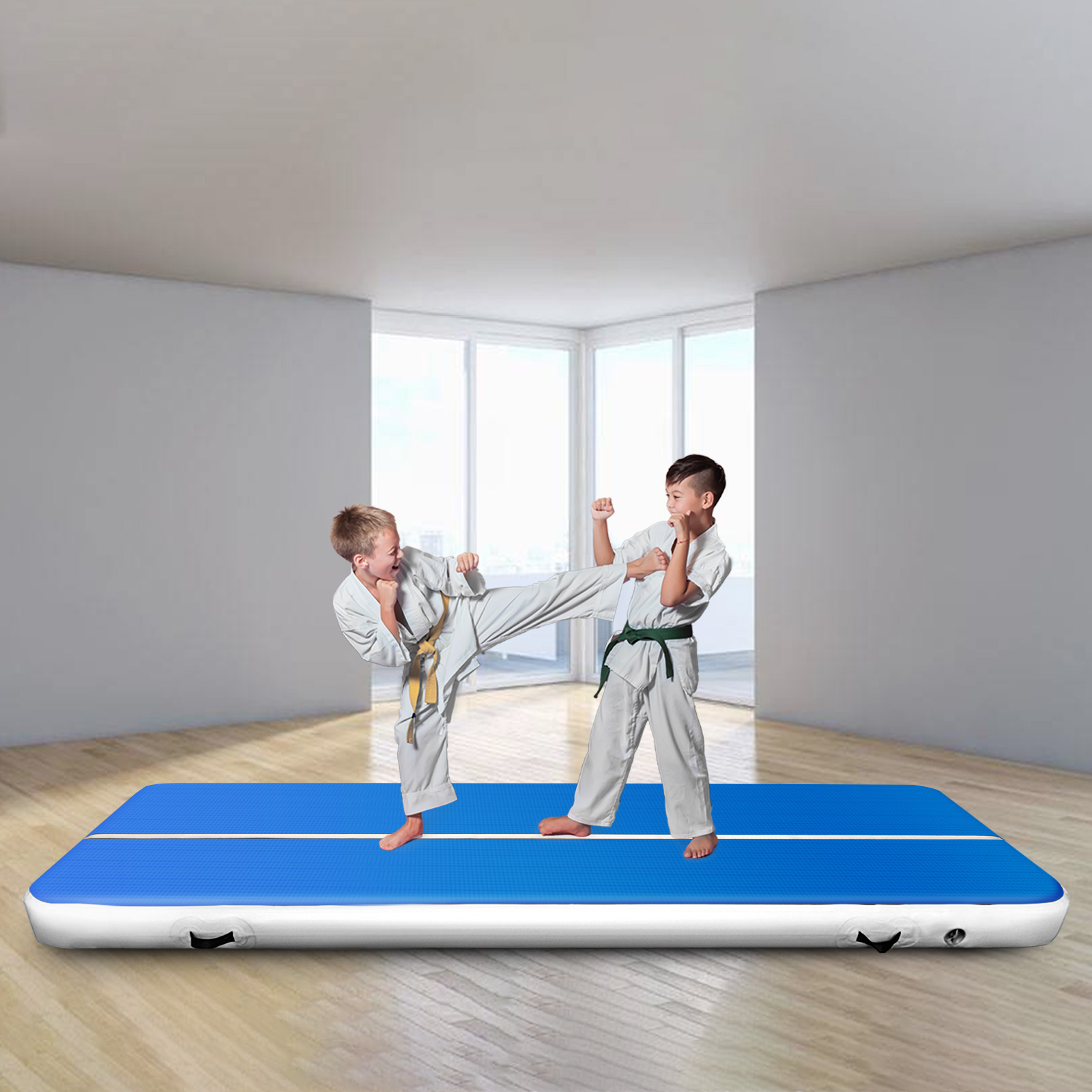 aufblasbar air track floor tumbling gymnastikmatte fitess