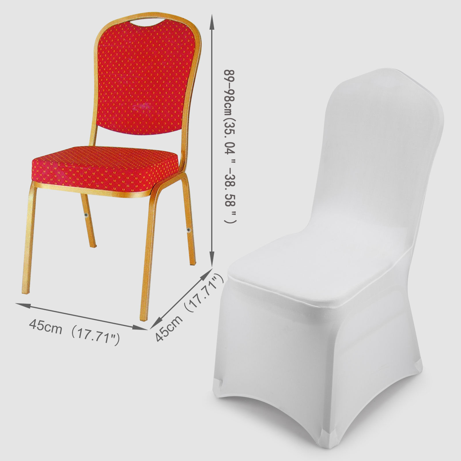 50 100 PCS Universal Spandex Fitted Folding Chair Covers Wedding