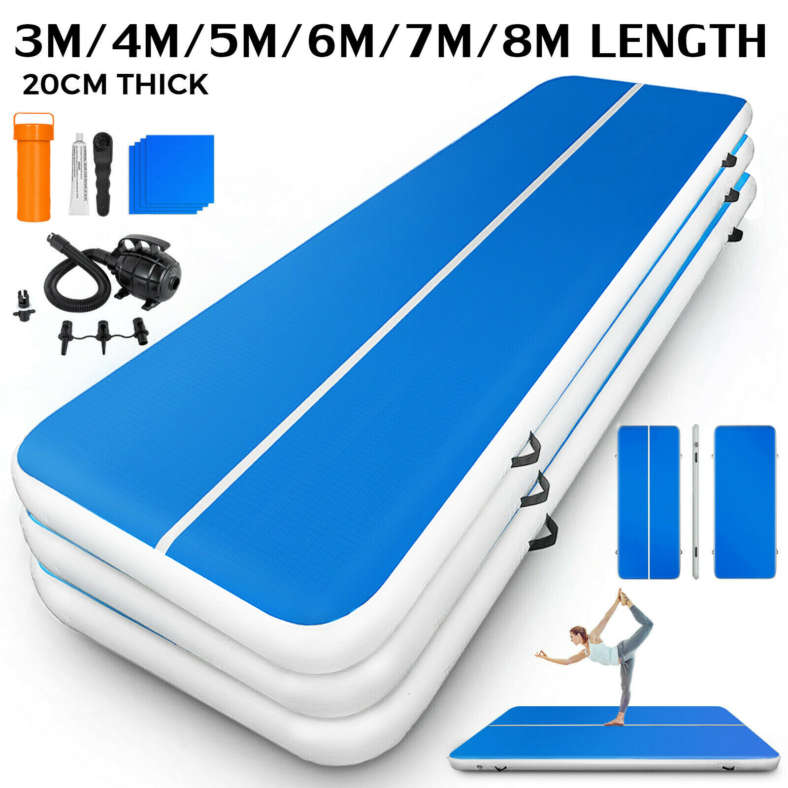 6x20FT Airtrack Air Track Floor Home Inflatable Gymnastic