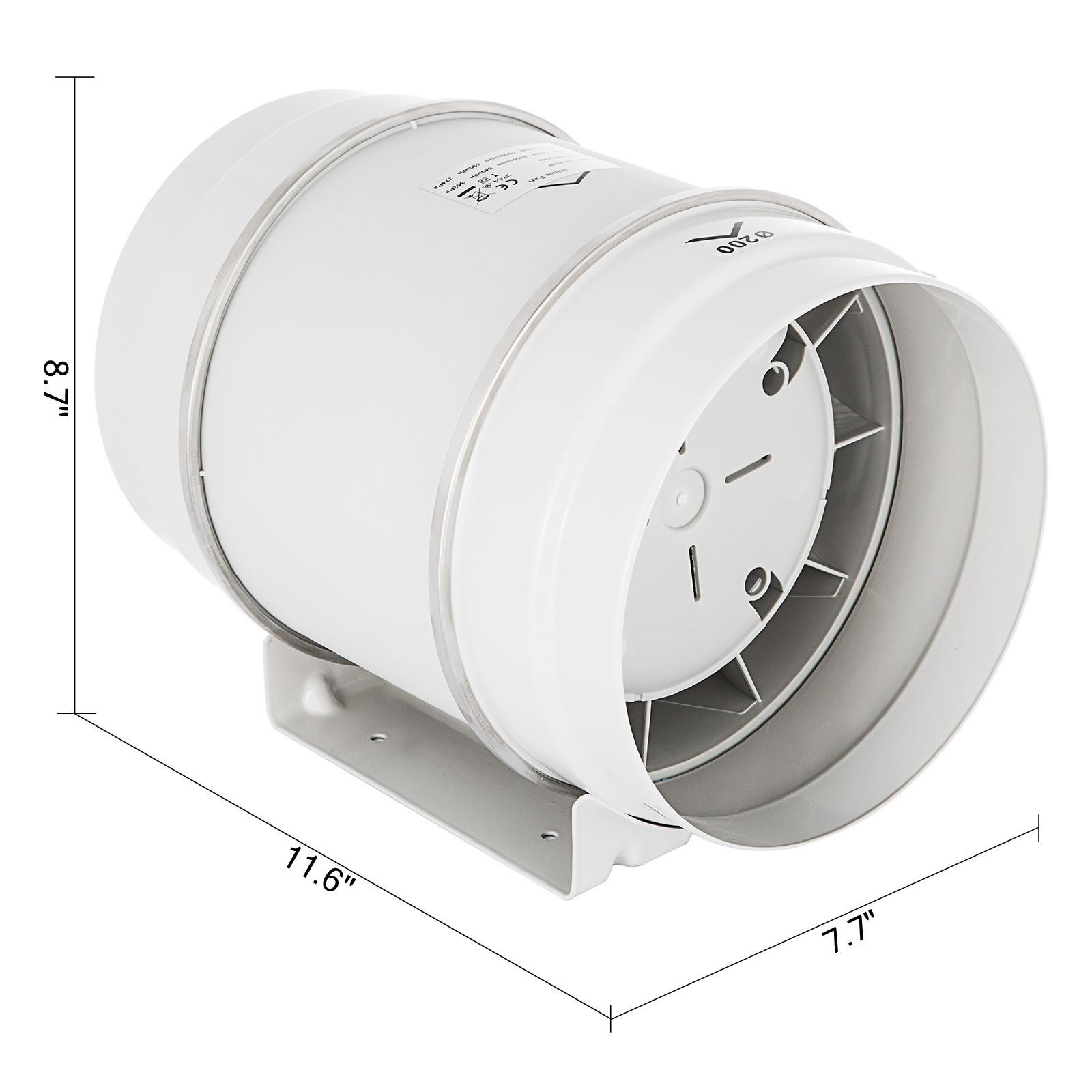 3 4 Quot 5 6 Quot 8 Quot Inline Duct Fan Mixed Flow Exhaust Fan