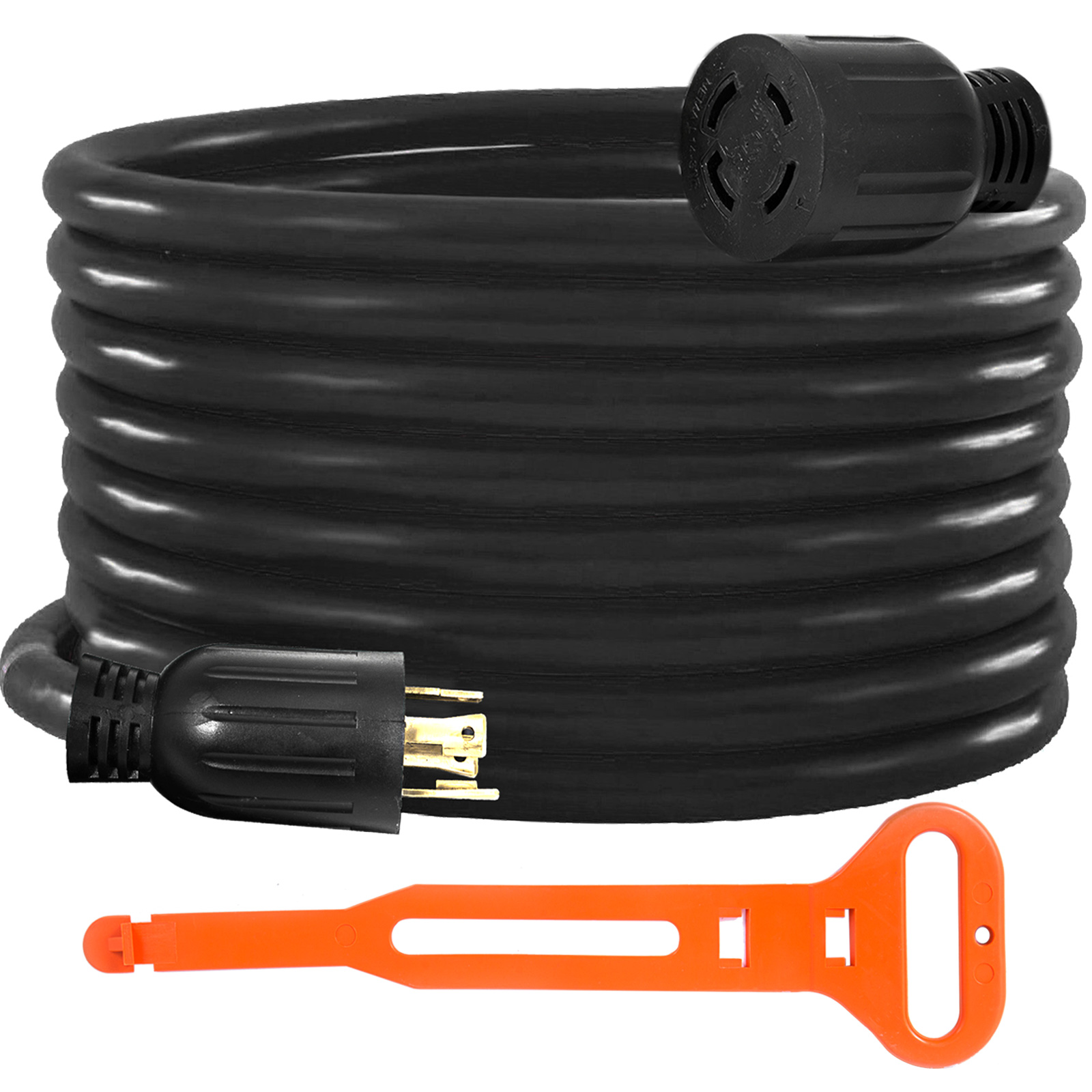Generator-Extension-Cord-10-50ft-10-4-Power-Cable-30A-Adapter-Plug-Copper-Wire miniature 49