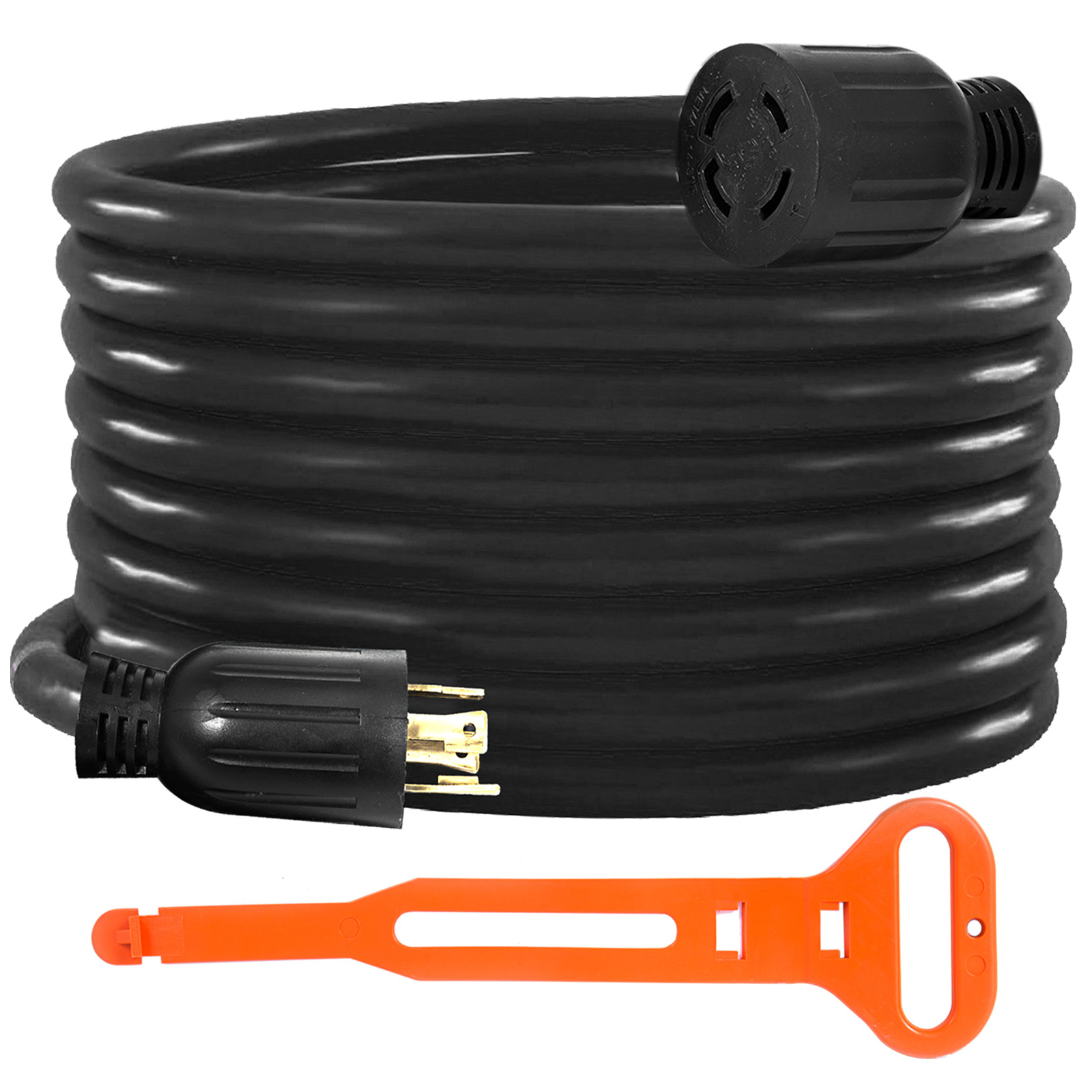 Generator-Extension-Cord-10-50ft-10-4-Power-Cable-30A-Adapter-Plug-Copper-Wire miniature 73