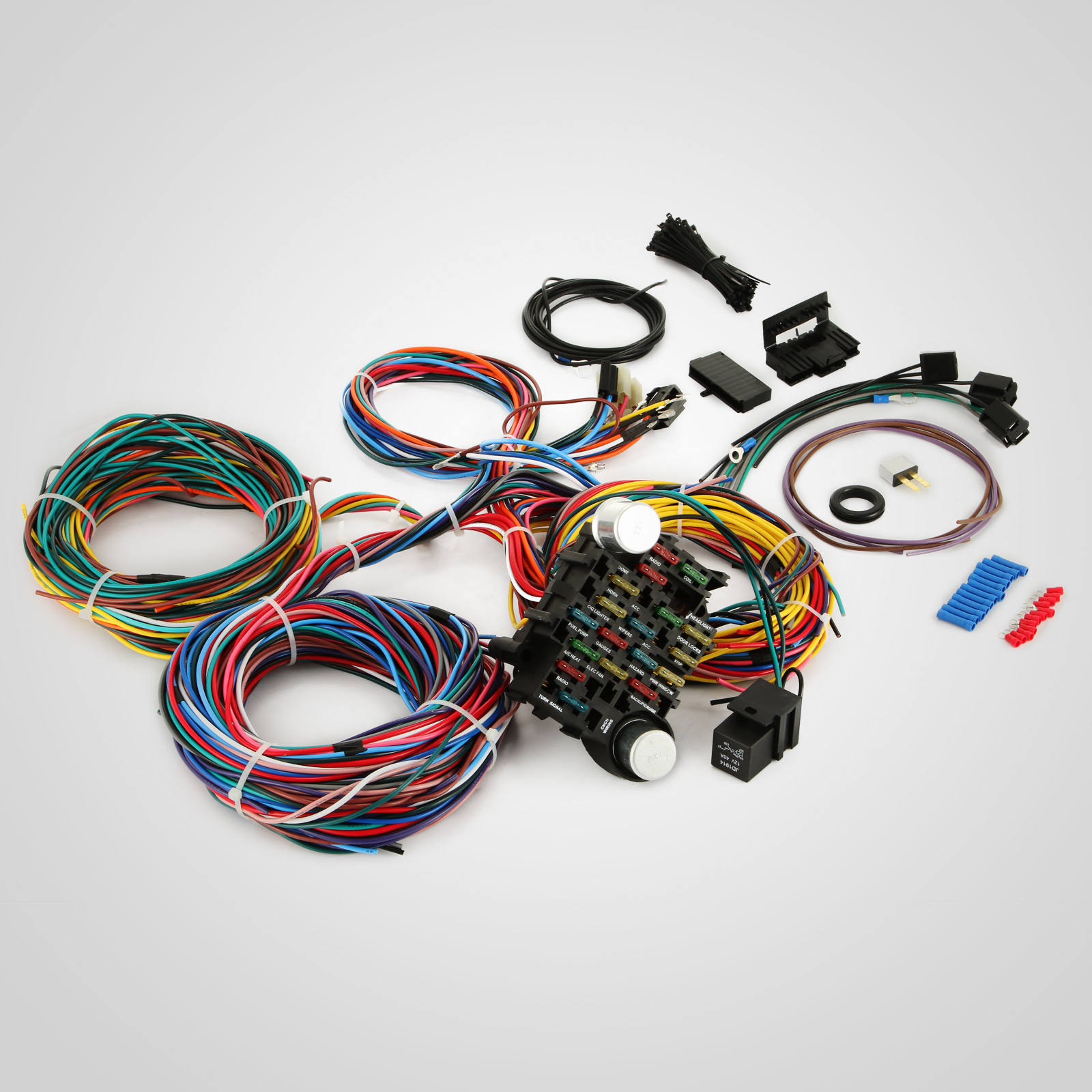 Apc Universal Wiring Harness : Circuit ez wiring harness chevy universal wires install