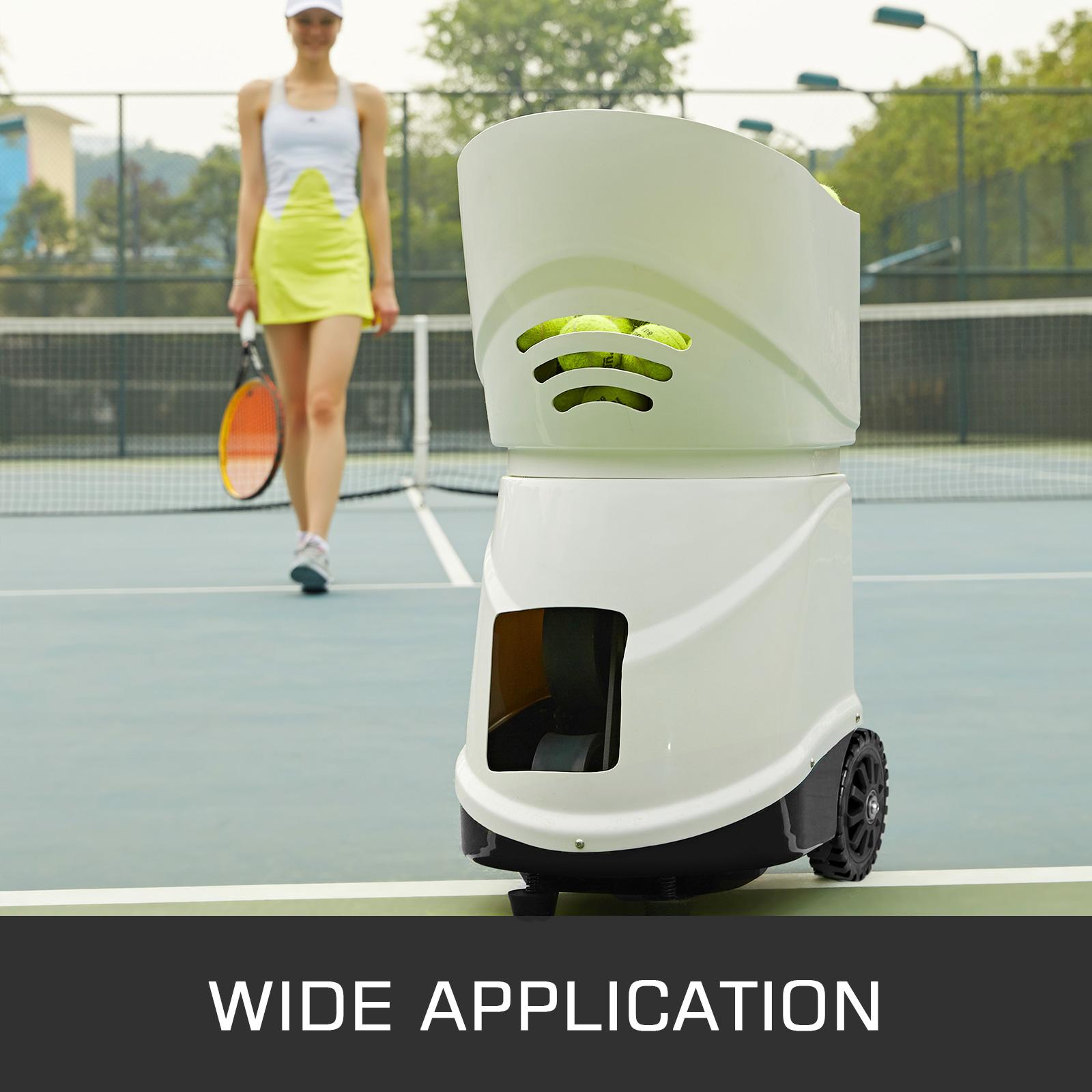 Portable Tennis Ball Machine 150 Balls Durable Training Robot TS-03//06//08